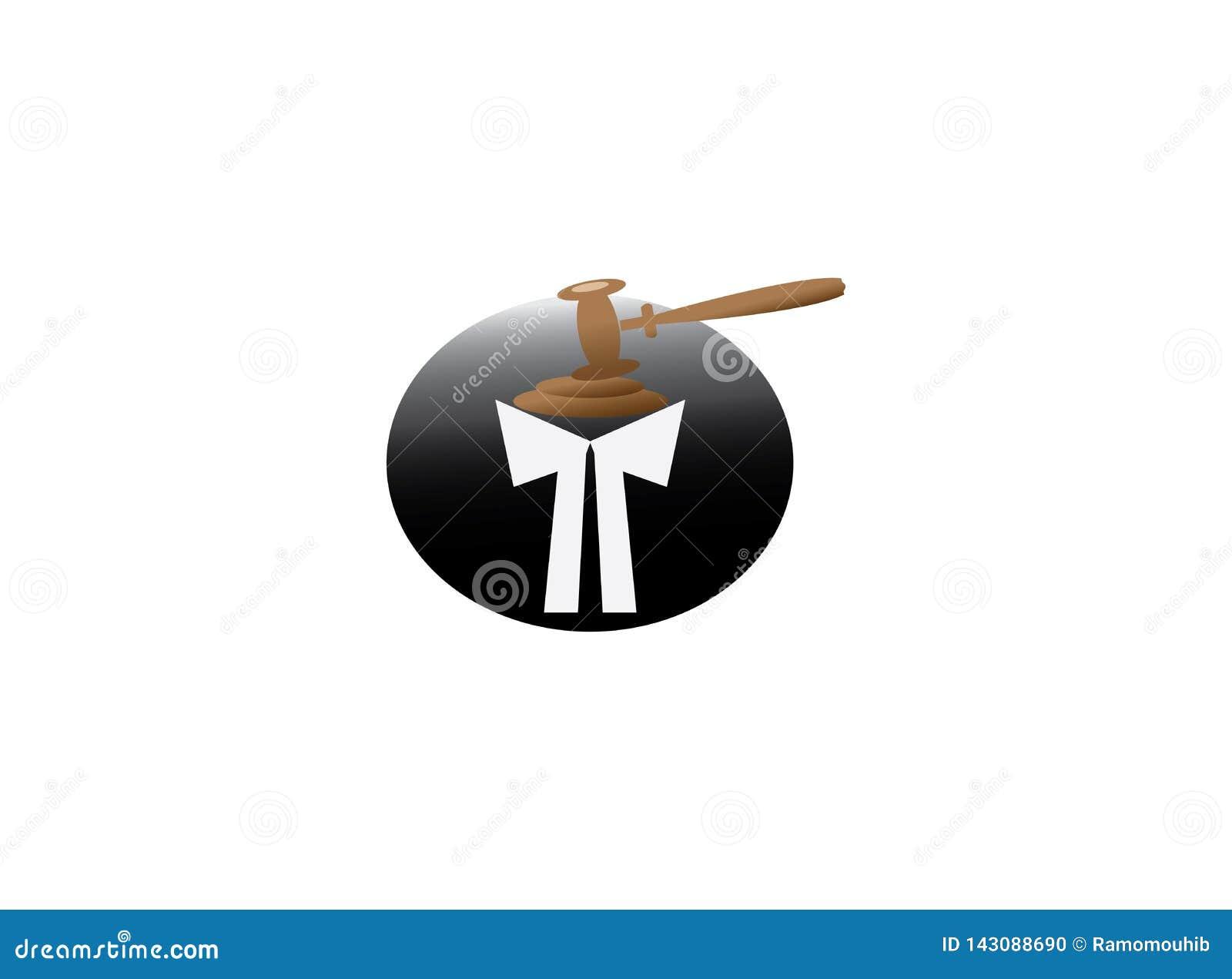 Одежды юриста и молоток юриста для дизайна логотипа
