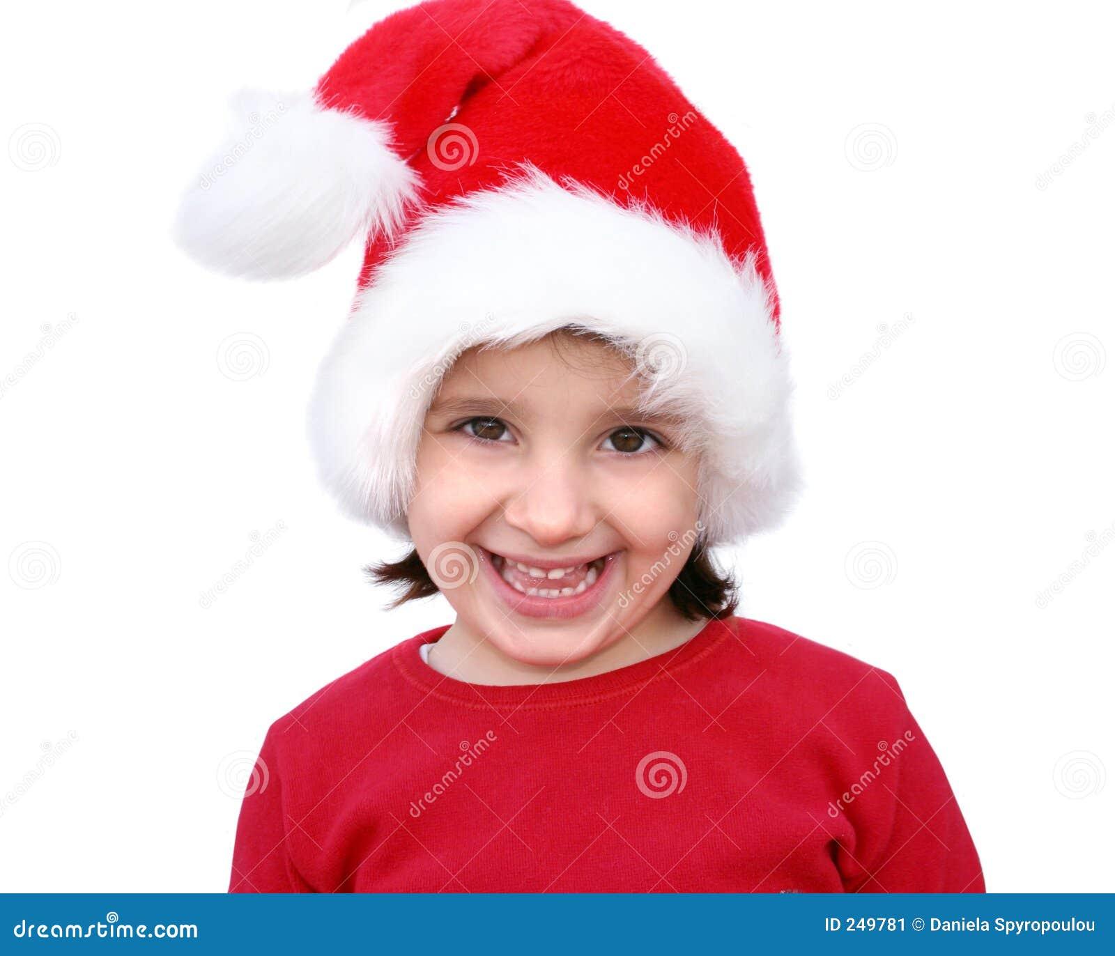 одетьнная девушка любит маленький santa