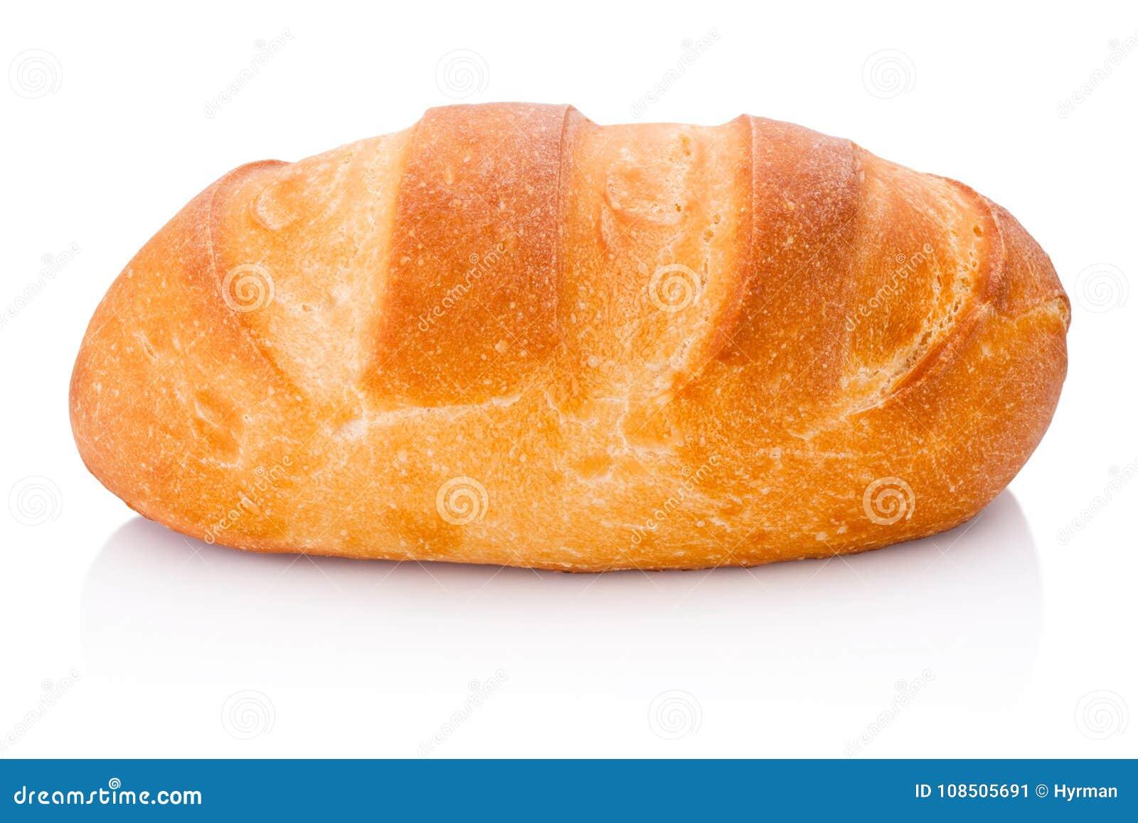 Один ломоть хлеба изолированный на белой предпосылке