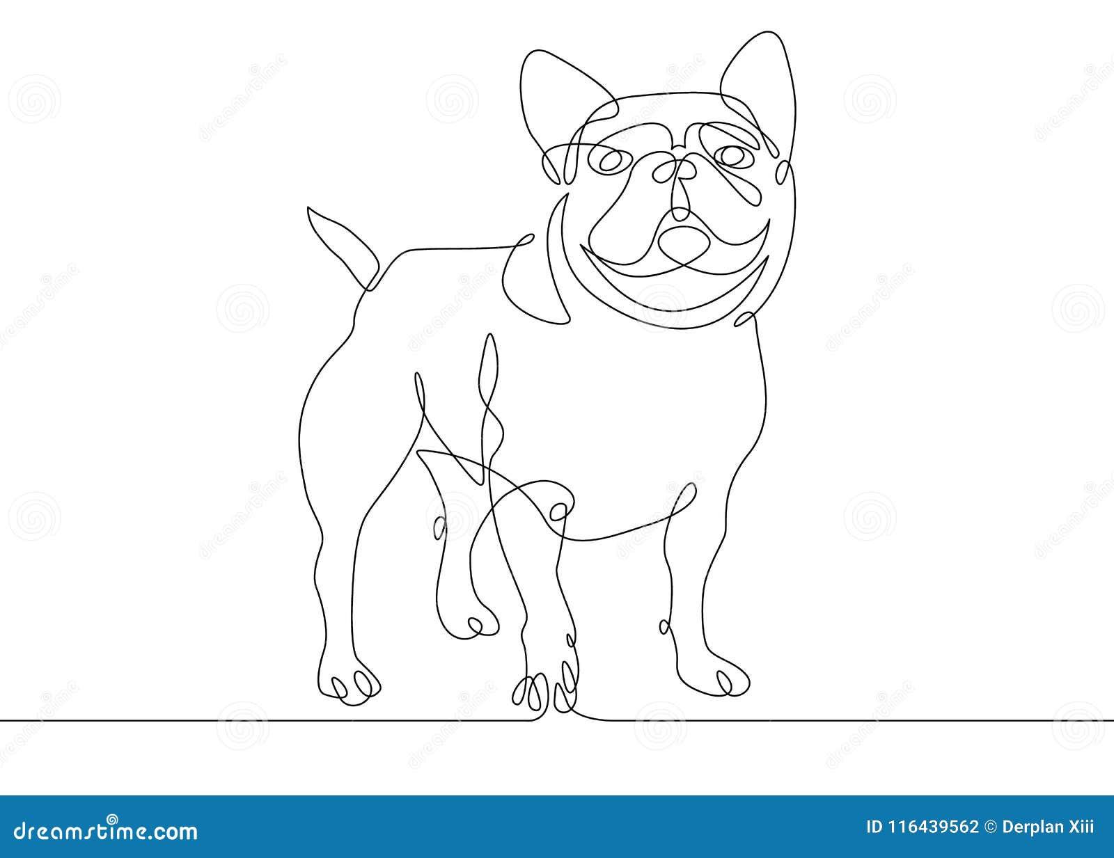 Одна линия собака