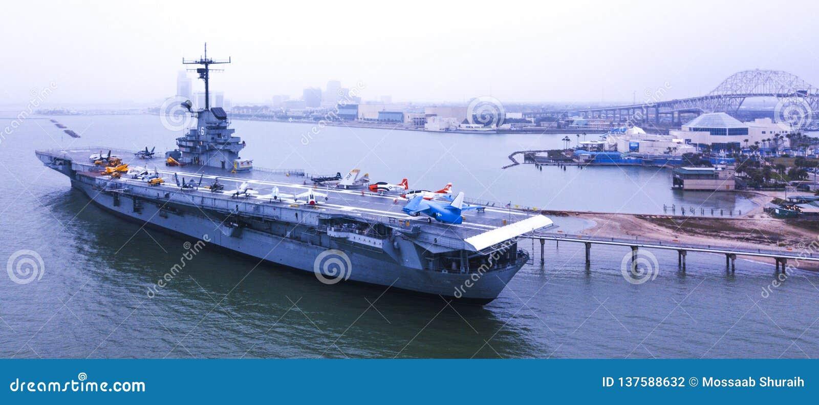 12-ое декабря 2018 Авианосец USS Lexington в Корпус Кристи, Техасе США