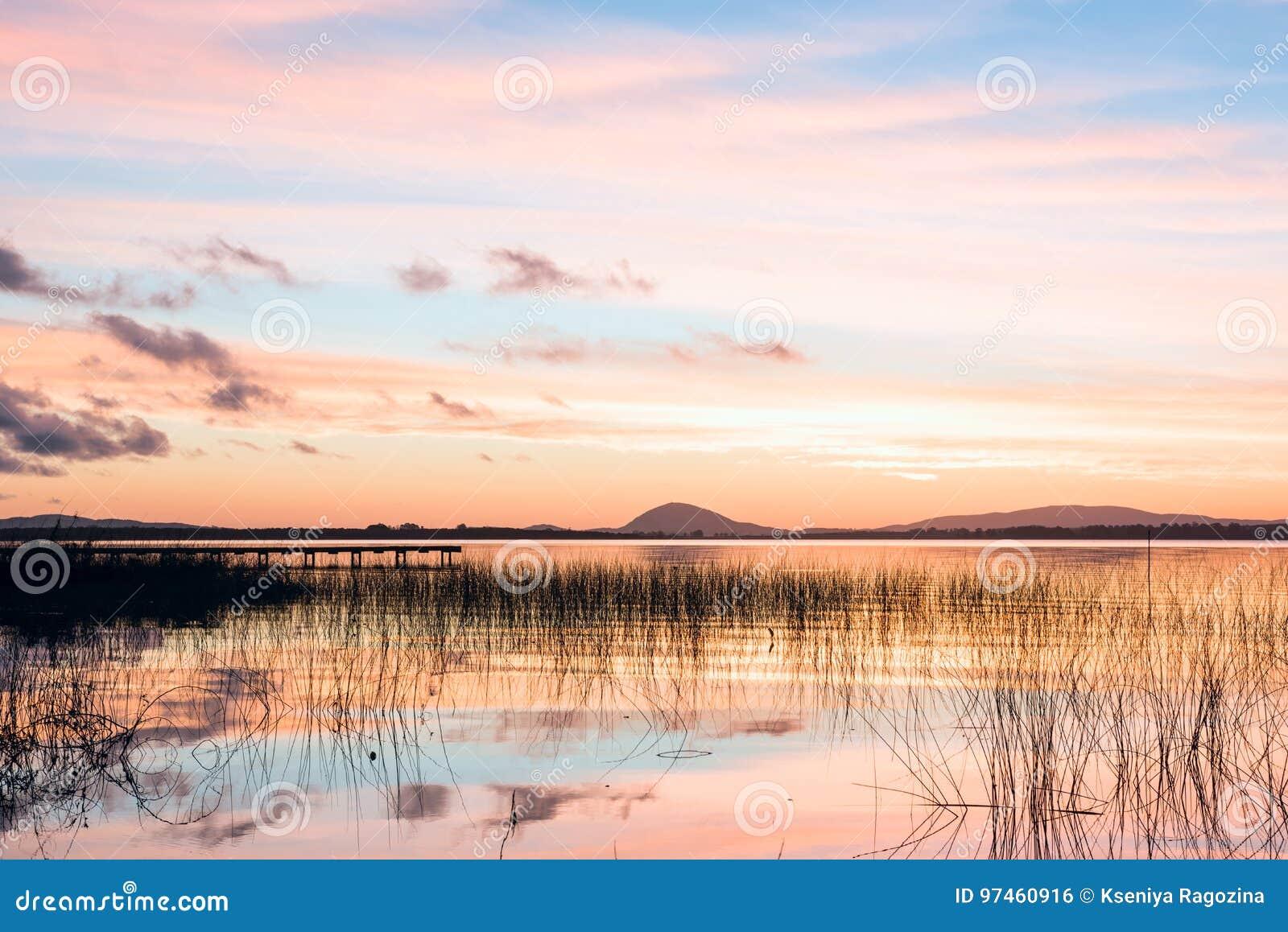 Озеро верб, самое большое тело воды в Maldonado, Уругвае