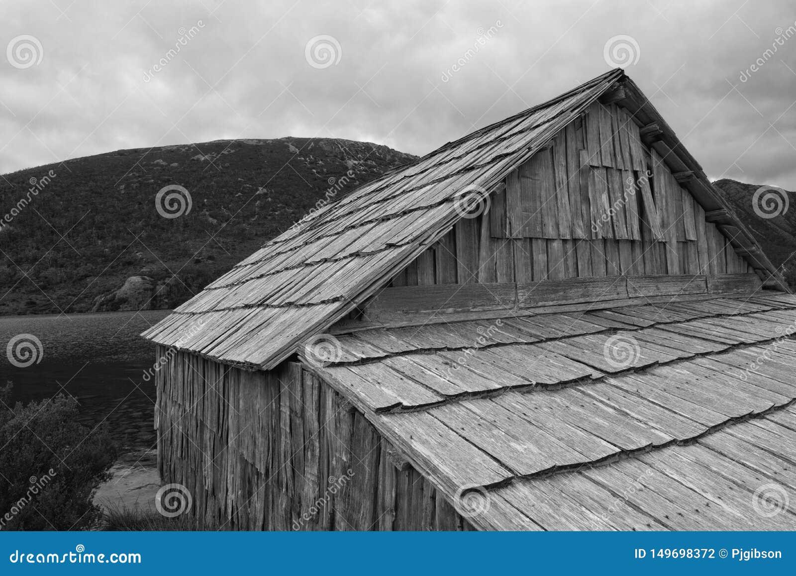Озеро голубь хижины шлюпки, гора вашгерда