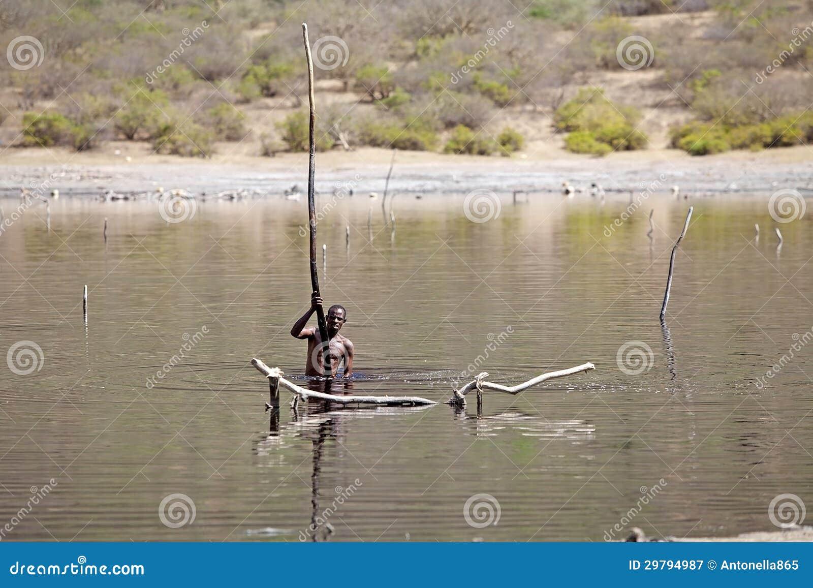 Озеро Эфиопия кратера Sod El