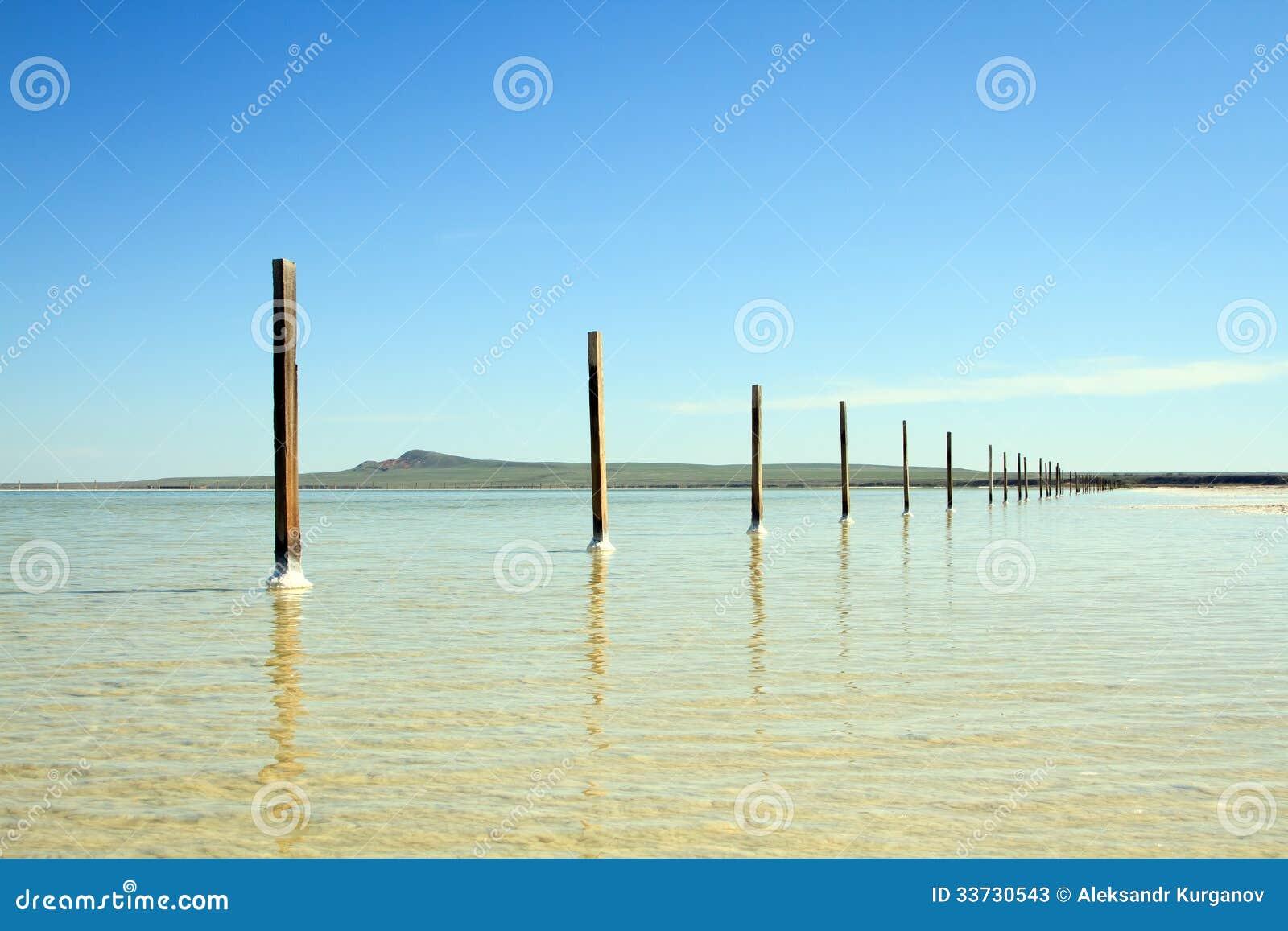 Озеро сол Baskunchak, Россия