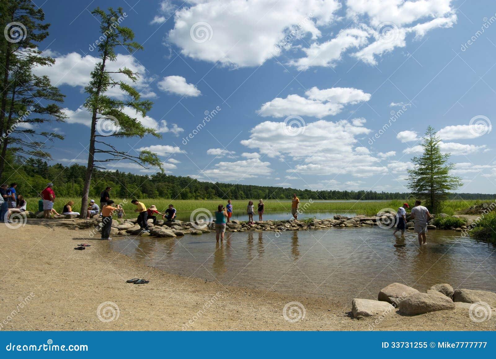 Озеро Itasca и источник реки Миссисипи