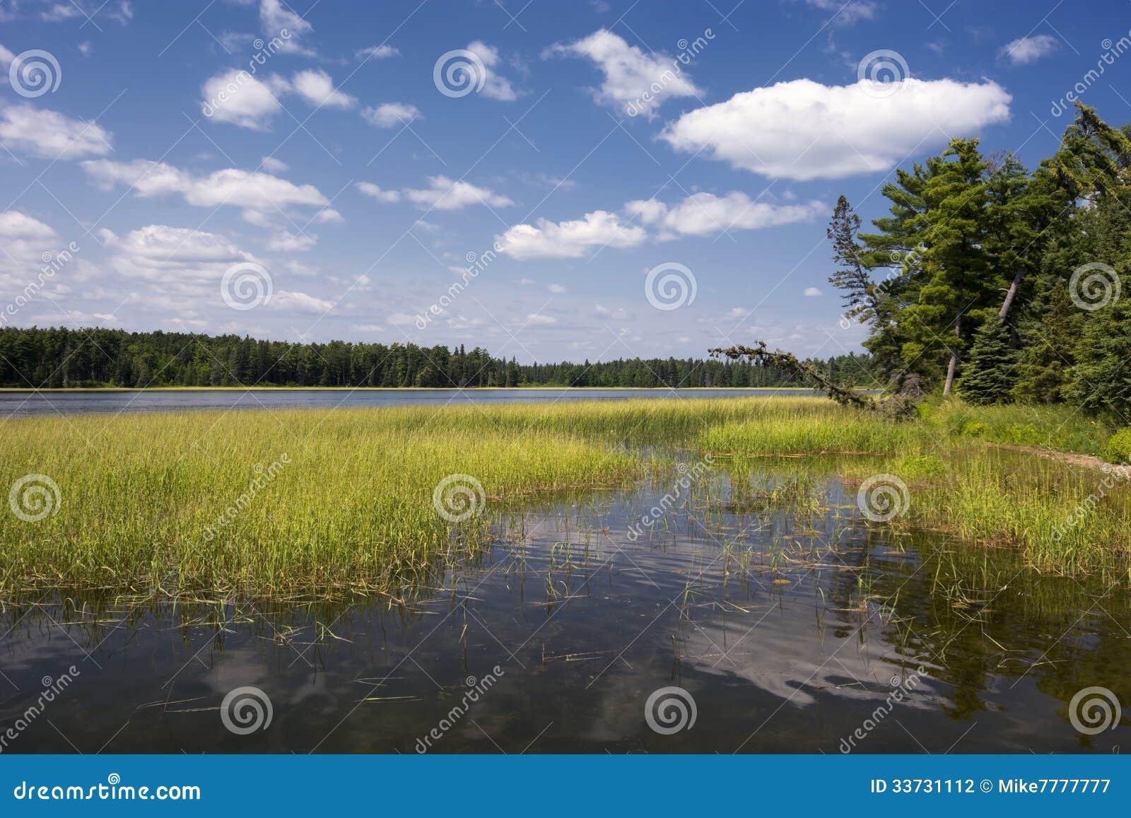 Озеро Itasca, северная Минесота, США.