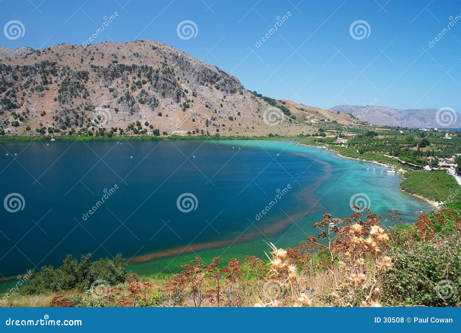 озеро kournas Крита