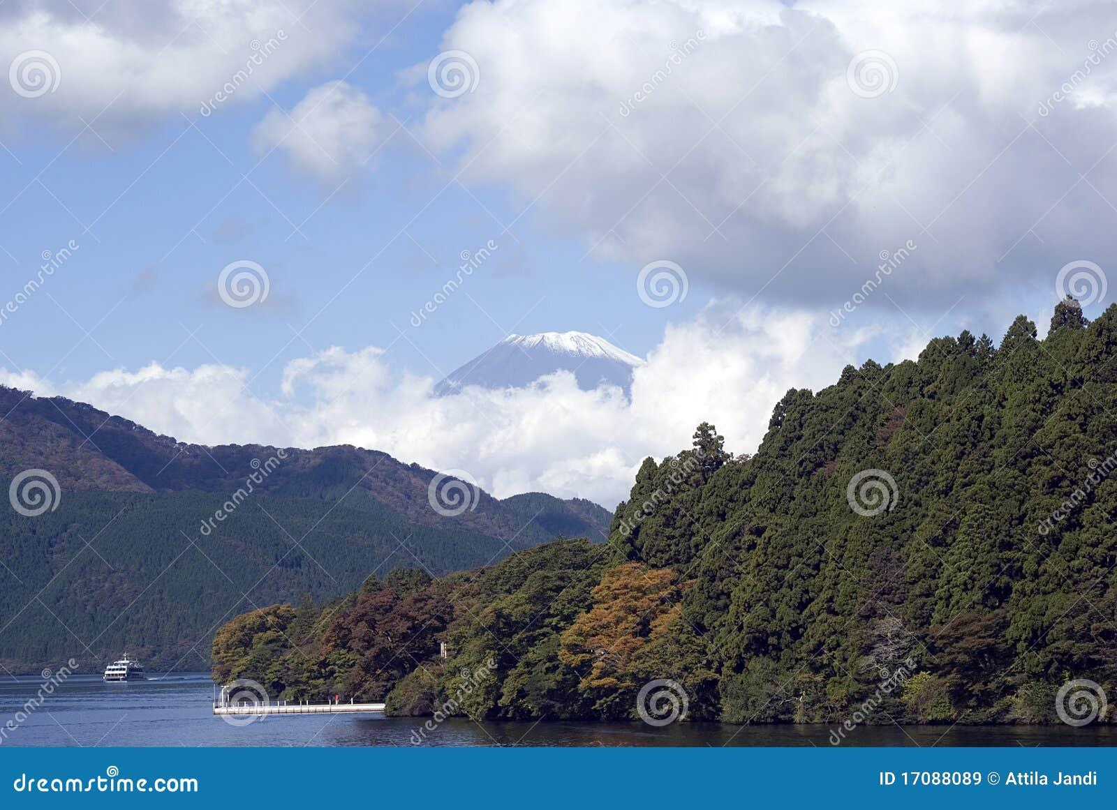 озеро mt fuji японии ashi