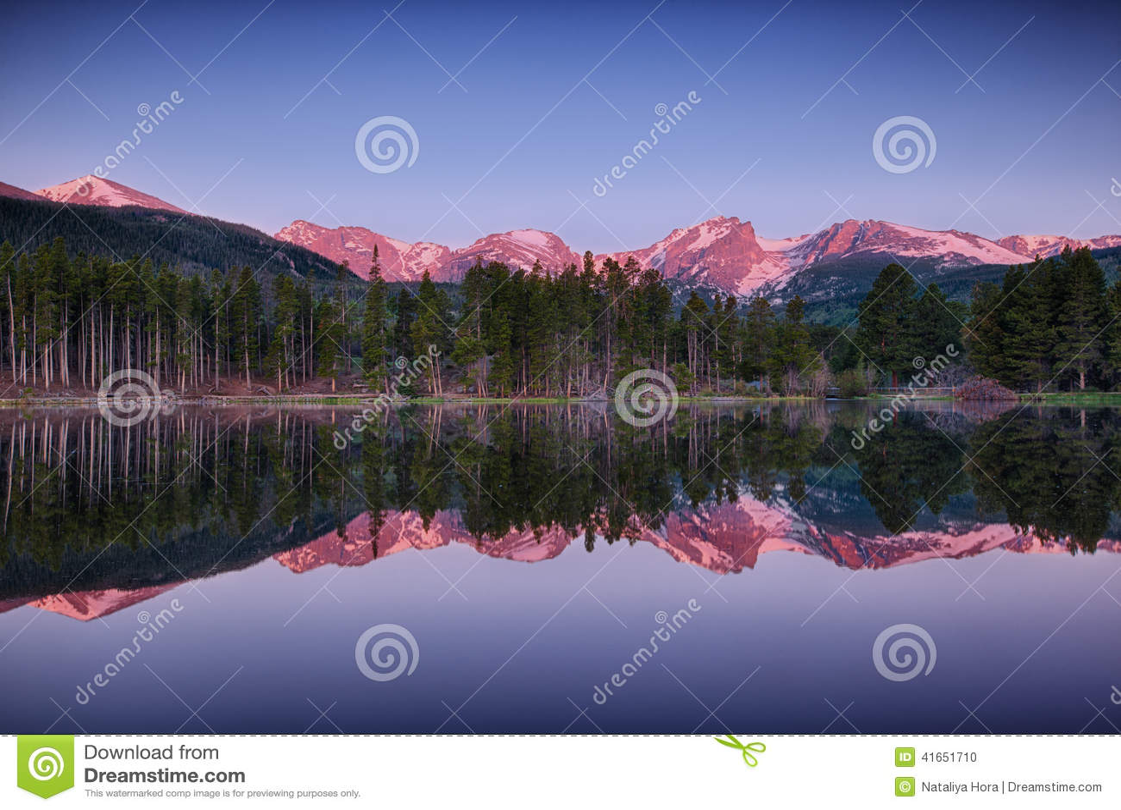 Озеро Sprague, национальный парк скалистой горы