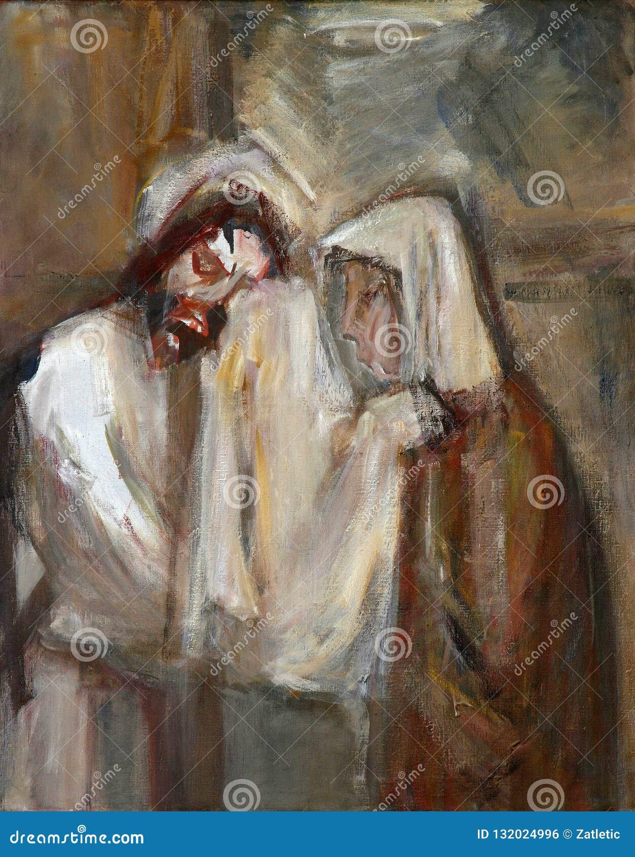 6-ой крестный путь, Вероника обтирает сторону Иисуса