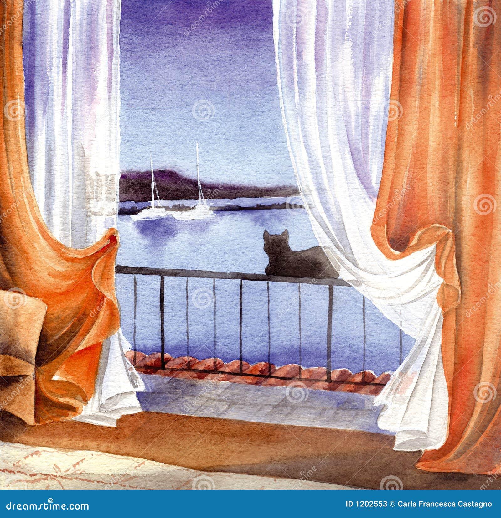 окно кота произведения искысства