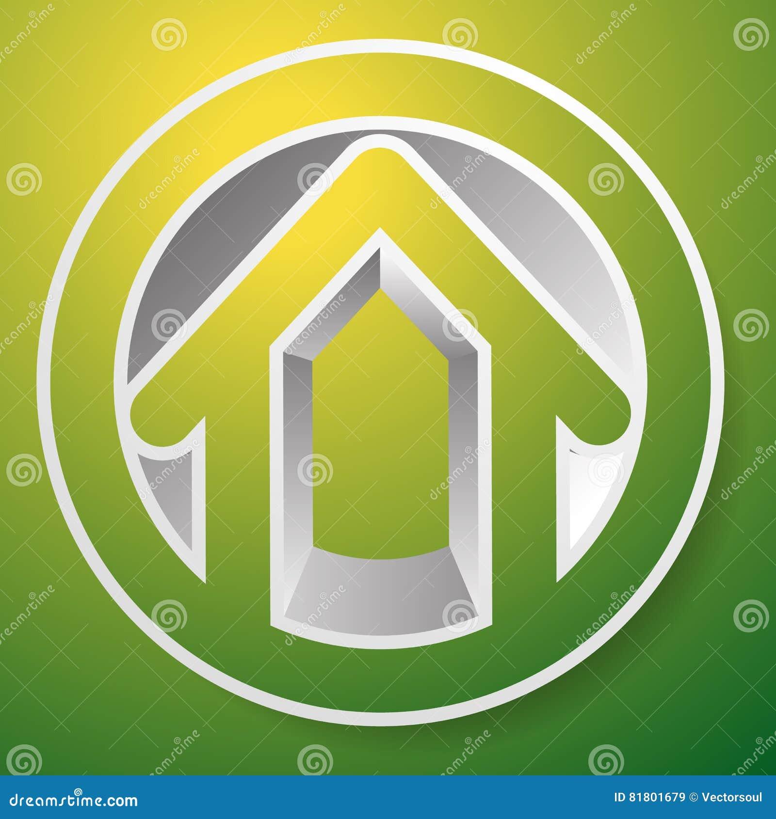 Оконтурите дом/символ, значок или логотип здания