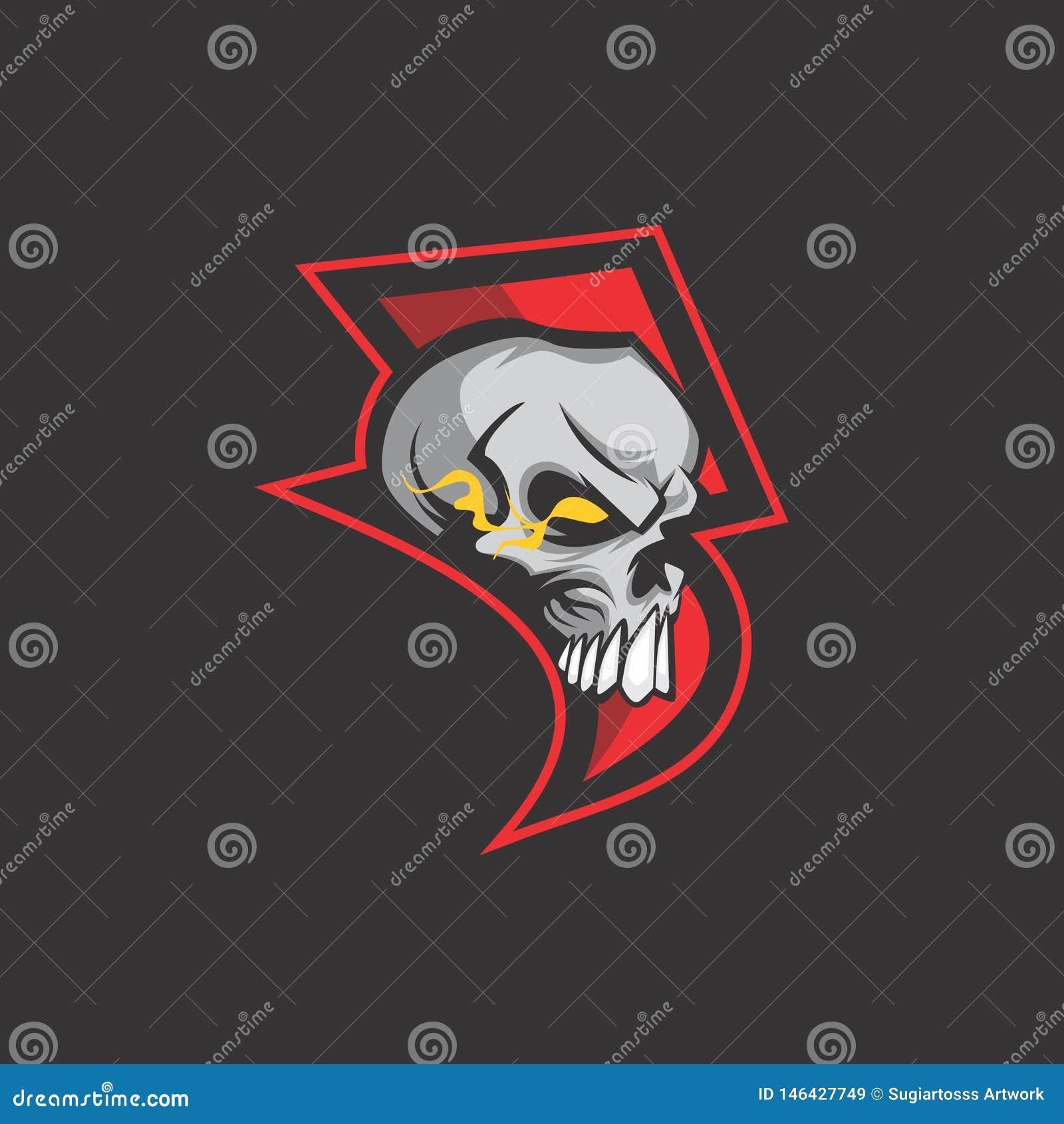 Окончательный логотип черепа грома