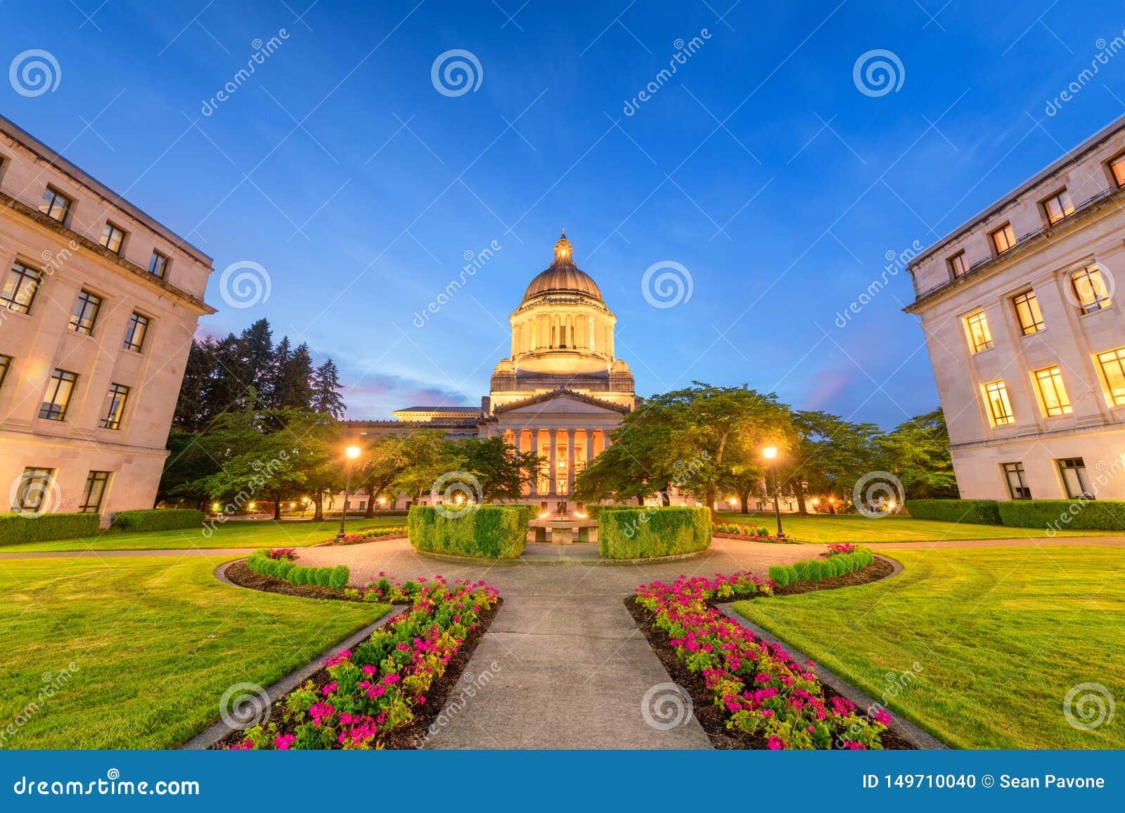 Олимпия, Вашингтон, США заявляет здание капитолия