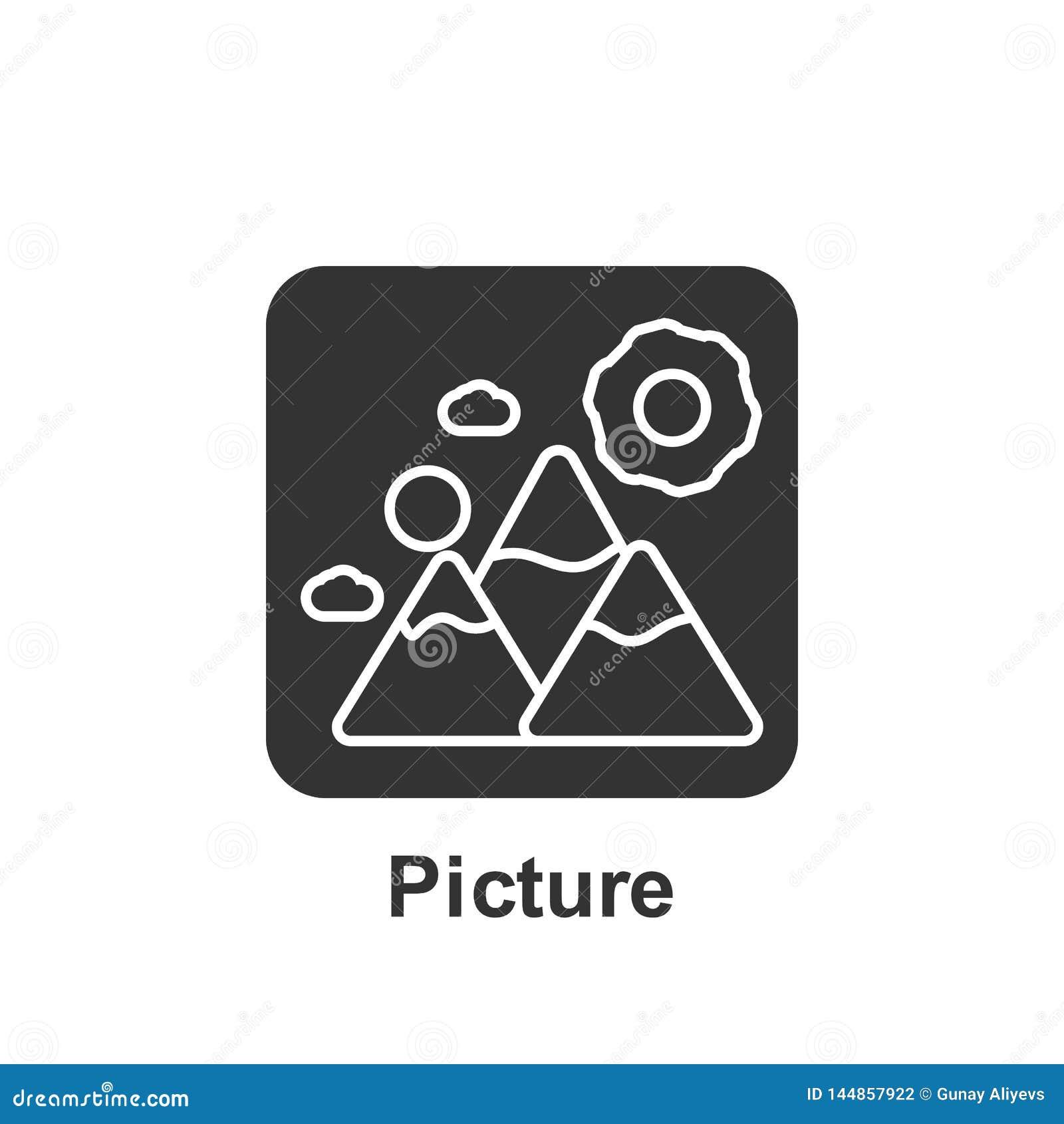 Онлайн маркетинг, значок изображения r r r