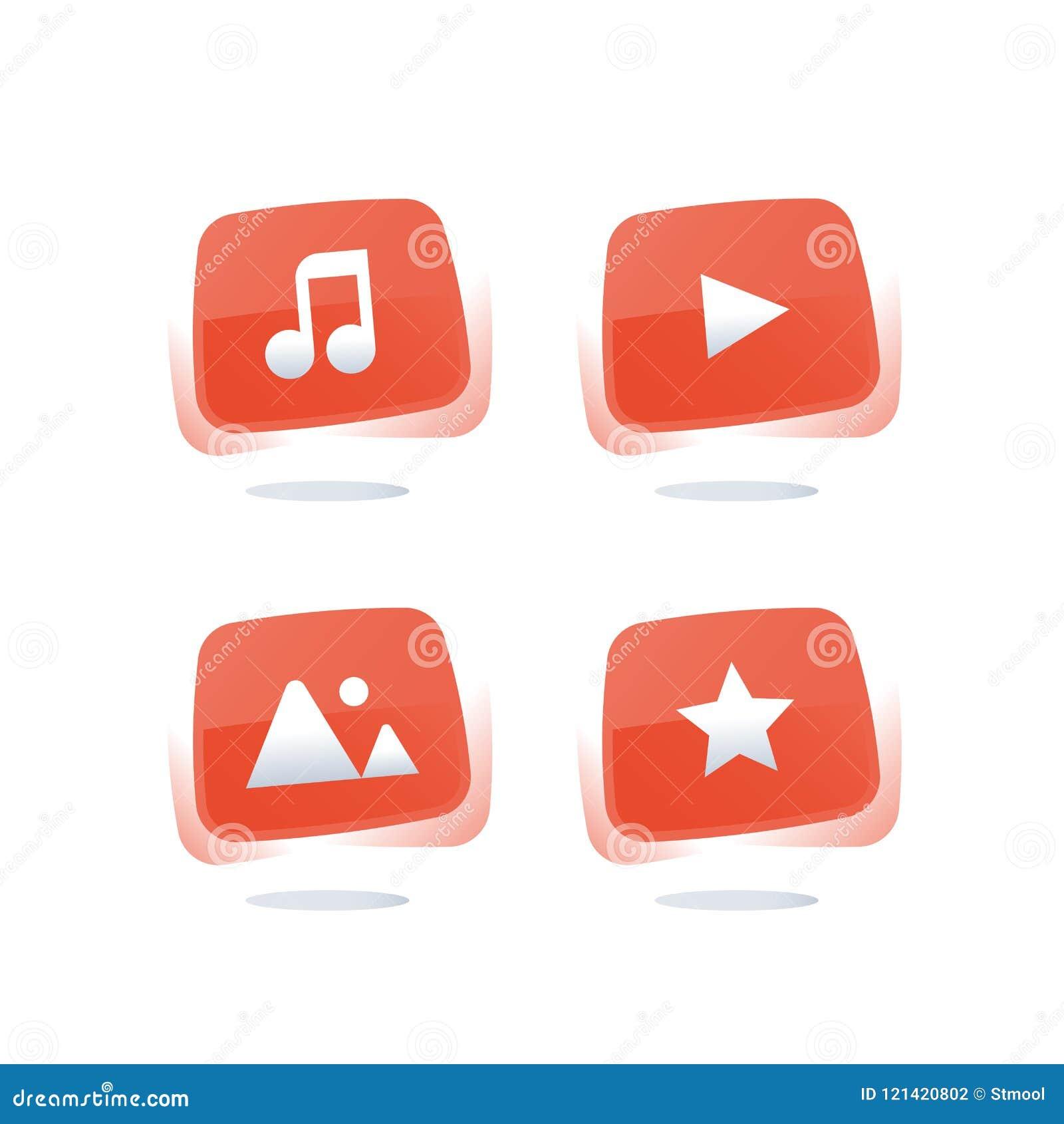 Онлайн обслуживание музыки, вахта течь видео, кнопки сети средств массовой информации красные, загружает тональнозвуковой файл, р