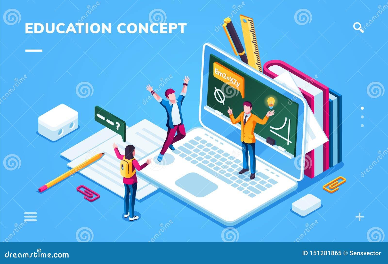 Онлайн страница образования для применения смартфона