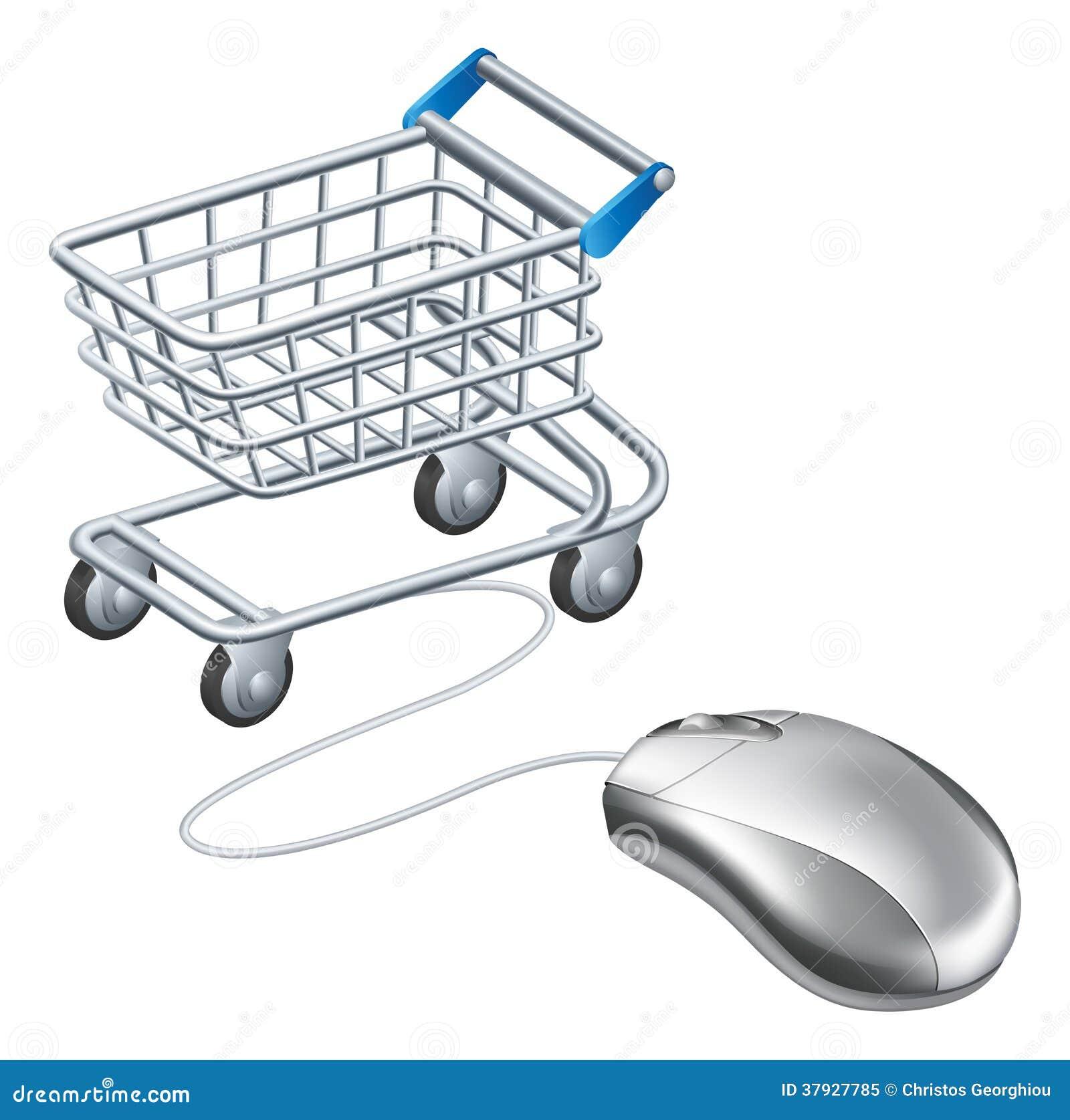 Онлайн мышь магазинной тележкаи