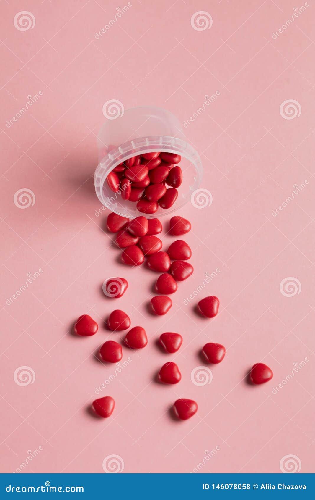 Опарник с сердцами забота любов обработка для любовников