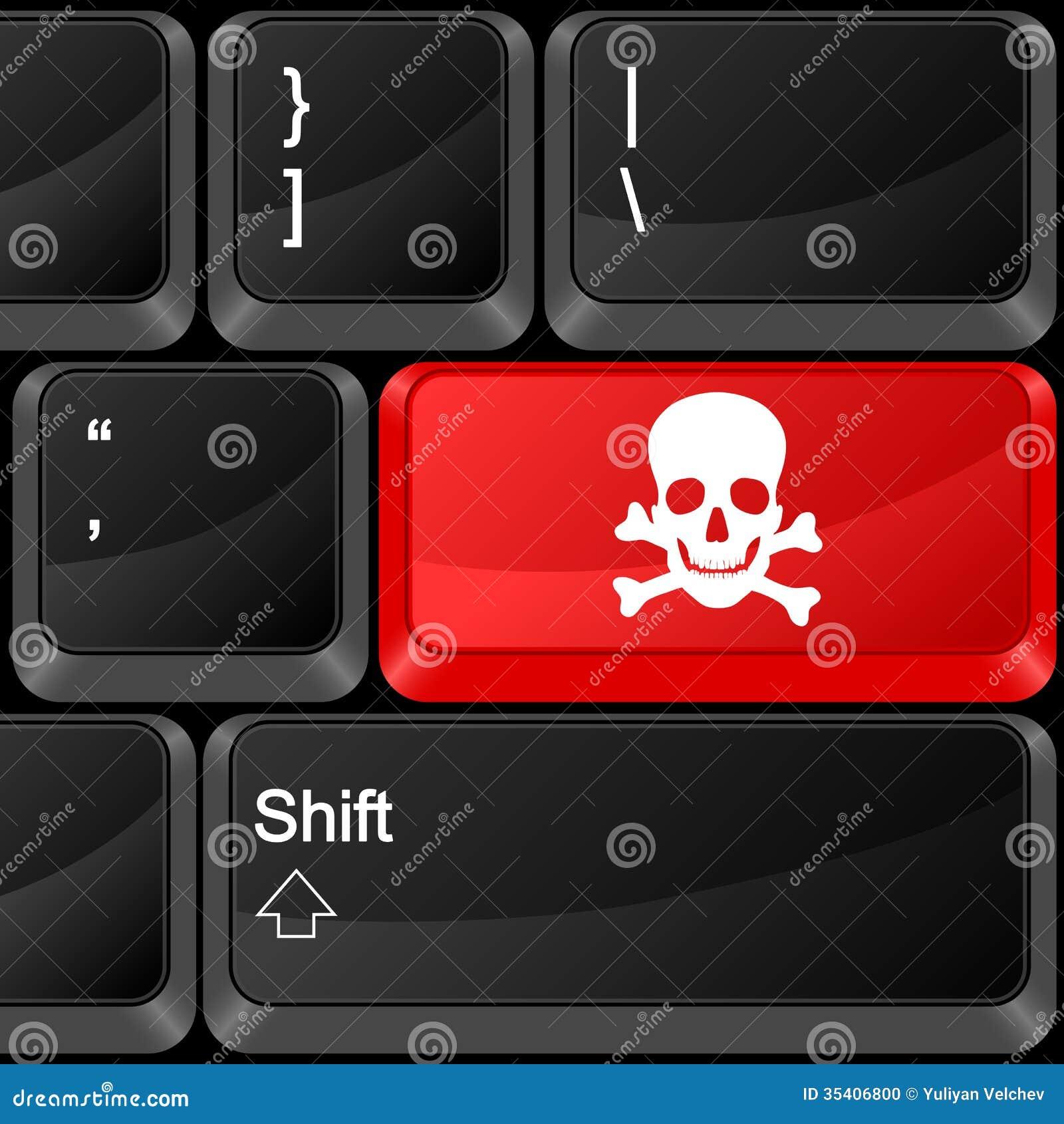 Опасность кнопки компьютера