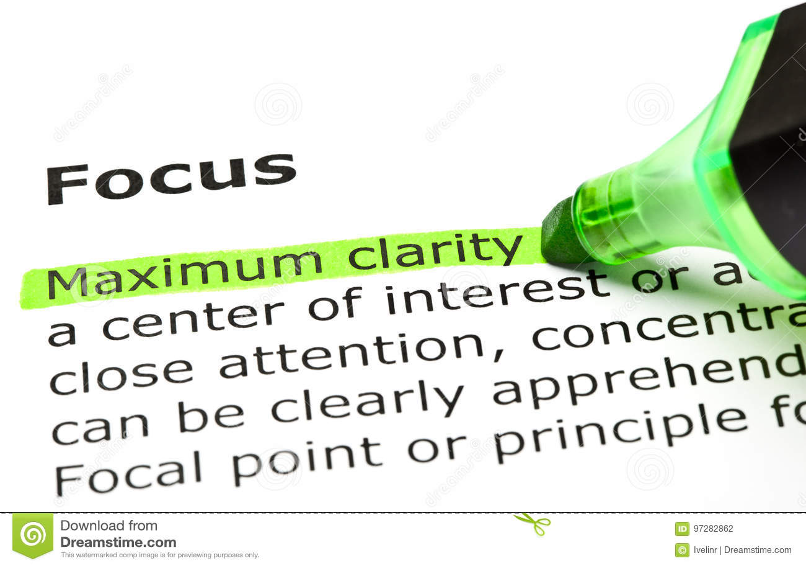 Определение фокуса слова