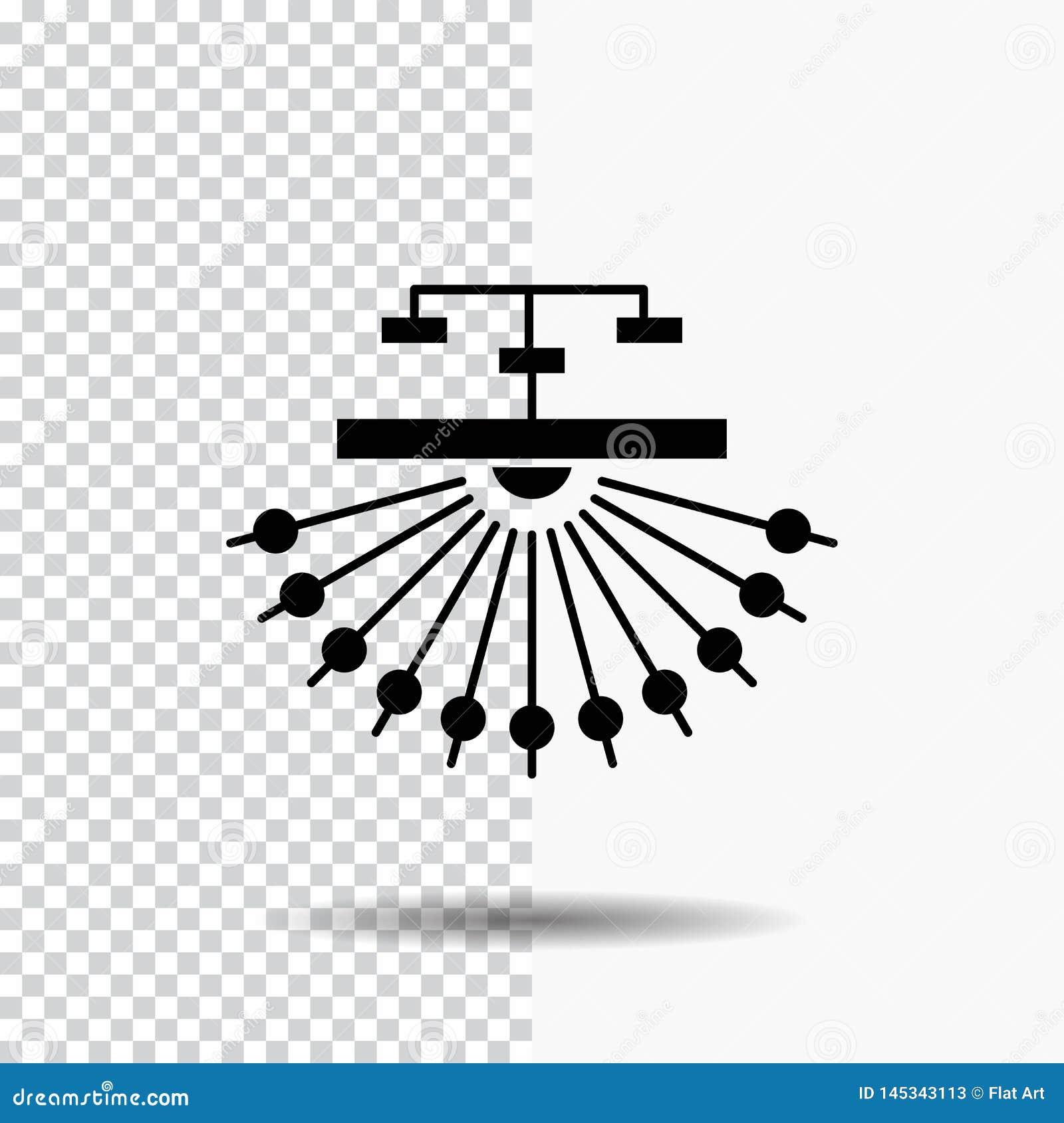 оптимизирование, место, место, структура, значок глифа сети на прозрачной предпосылке r