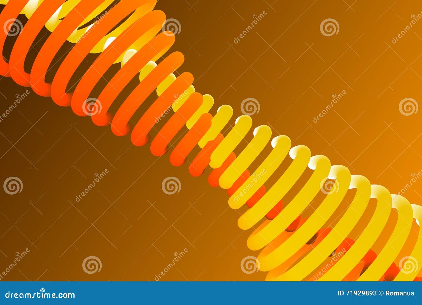 Оранжевая предпосылка, абстрактная форма