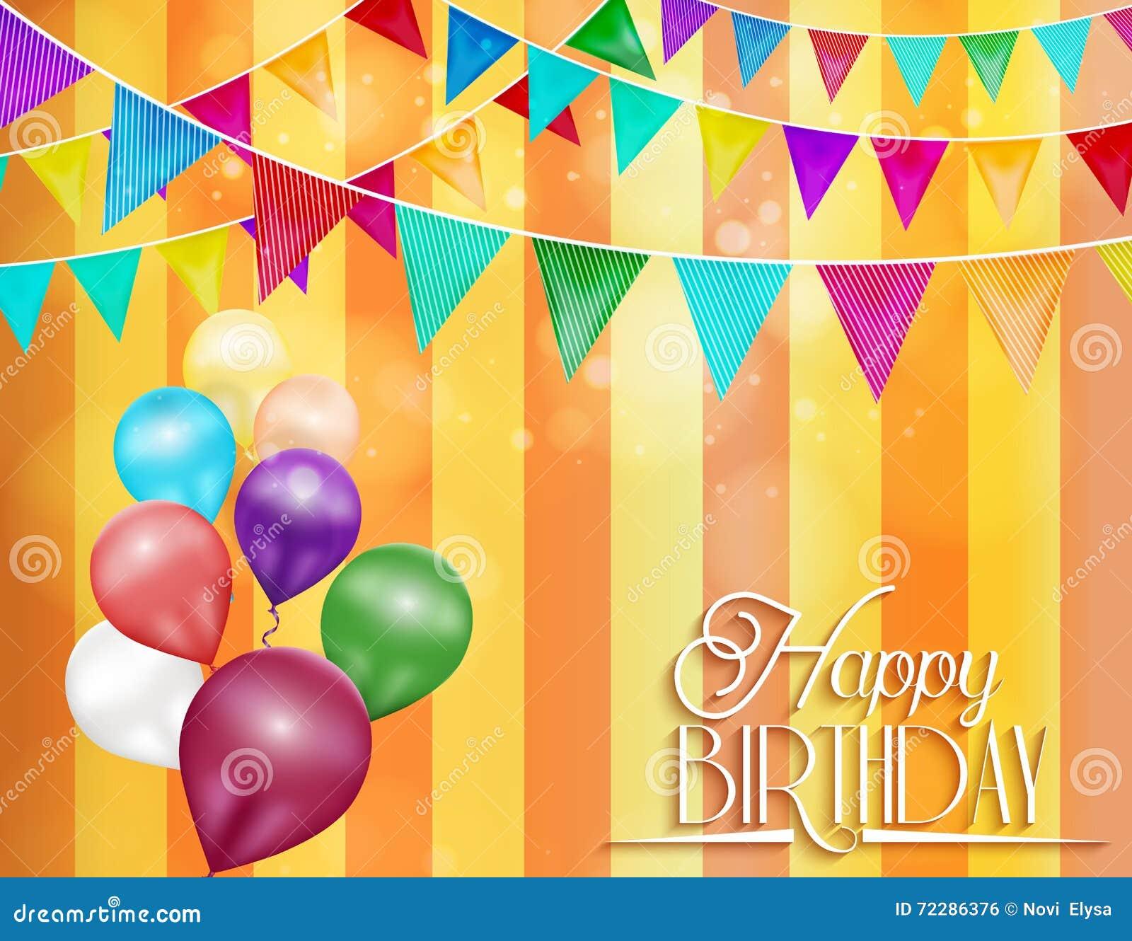 Download Оранжевая предпосылка с овсянкой и цветом раздувает для торжеств дня рождения Иллюстрация вектора - иллюстрации насчитывающей лоснисто, приглашение: 72286376
