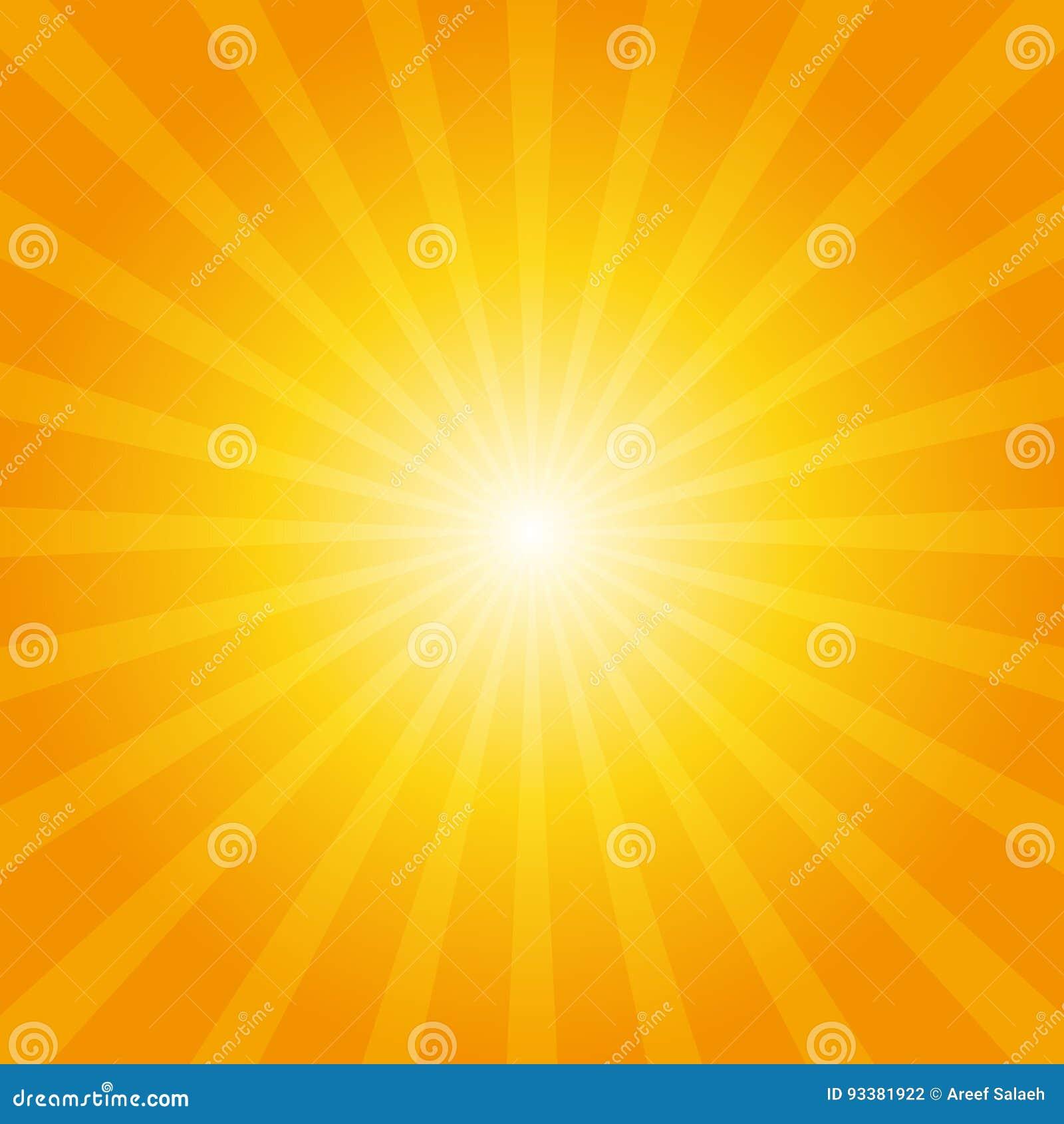 Оранжевая предпосылка sunburst