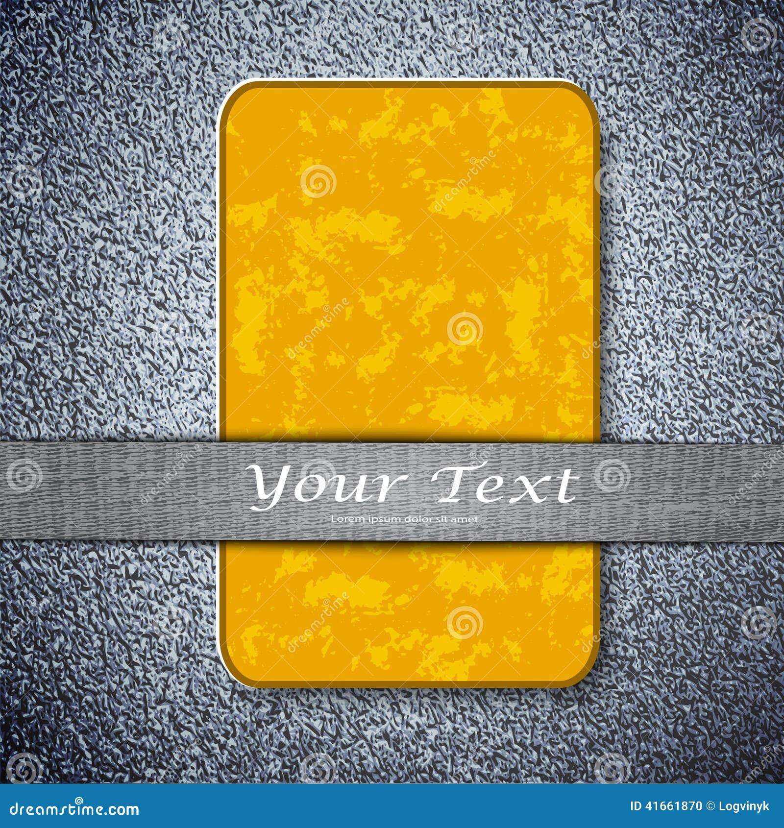 Оранжевая текстура карточки на предпосылке металла