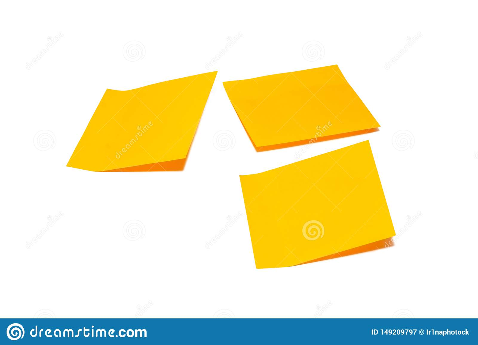 Оранжевое примечание ручки изолированное на белой предпосылке