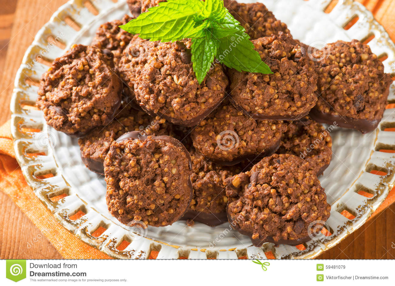 Органические печенья шоколада квиноа