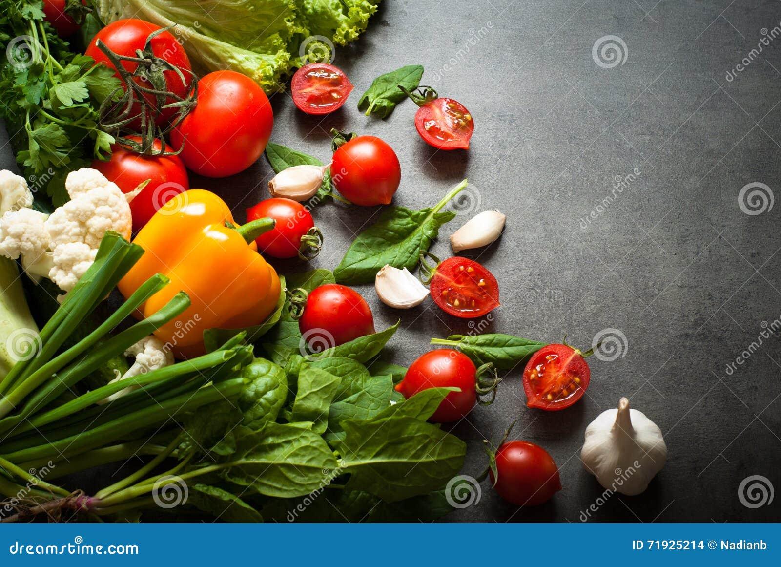 Органические свежие овощи