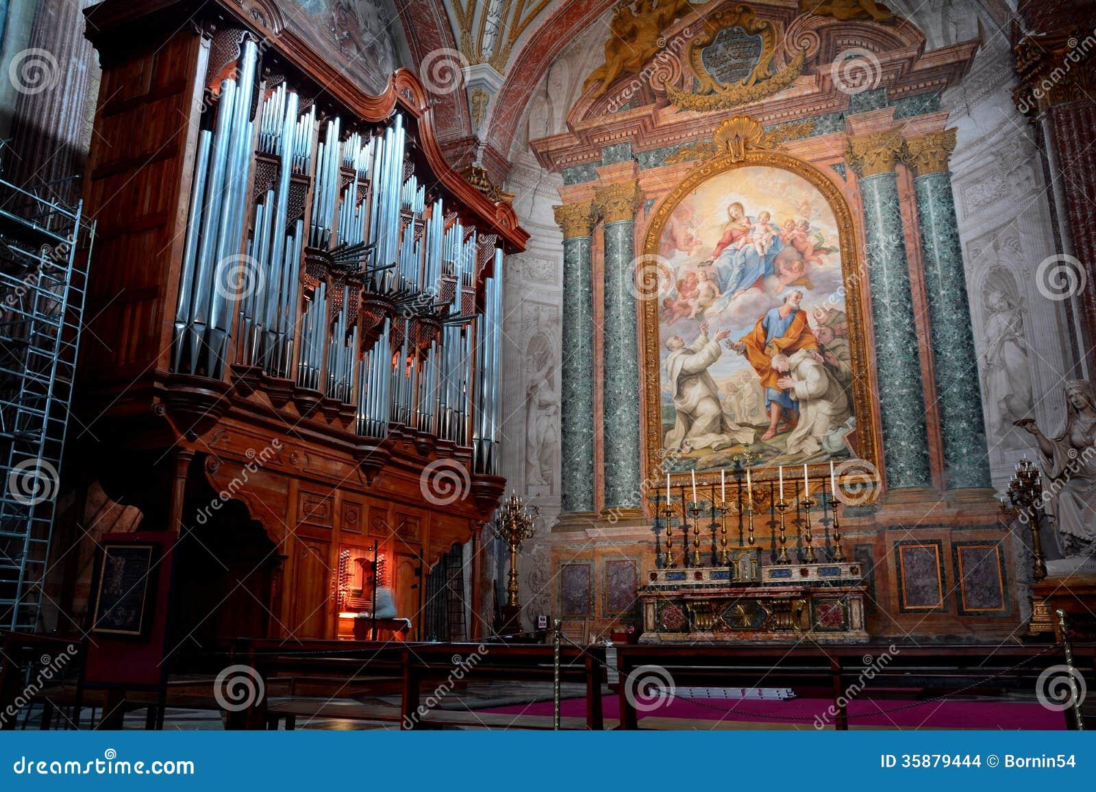 Орган трубы церков degli Angeli Santa Maria