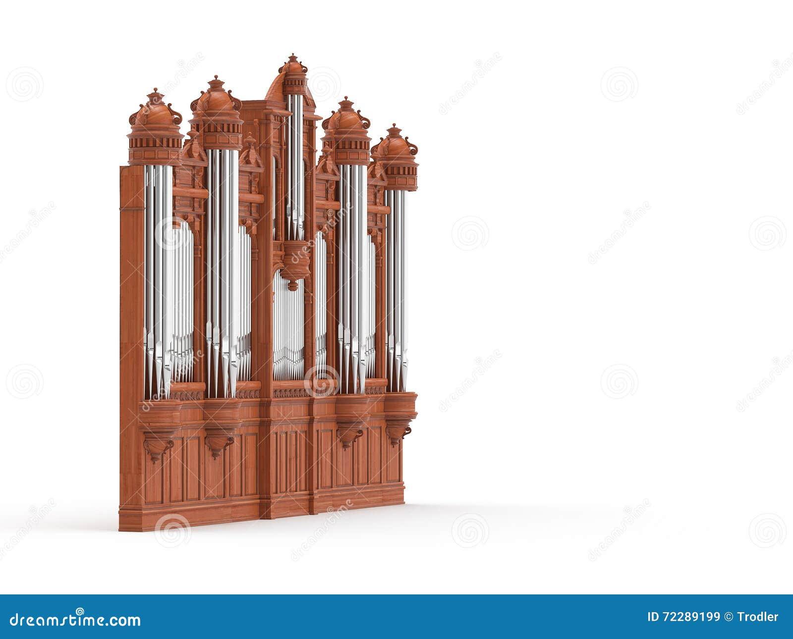 Download Орган трубы Isolted на белизне перевод 3d Иллюстрация штока - иллюстрации насчитывающей конспектов, металл: 72289199