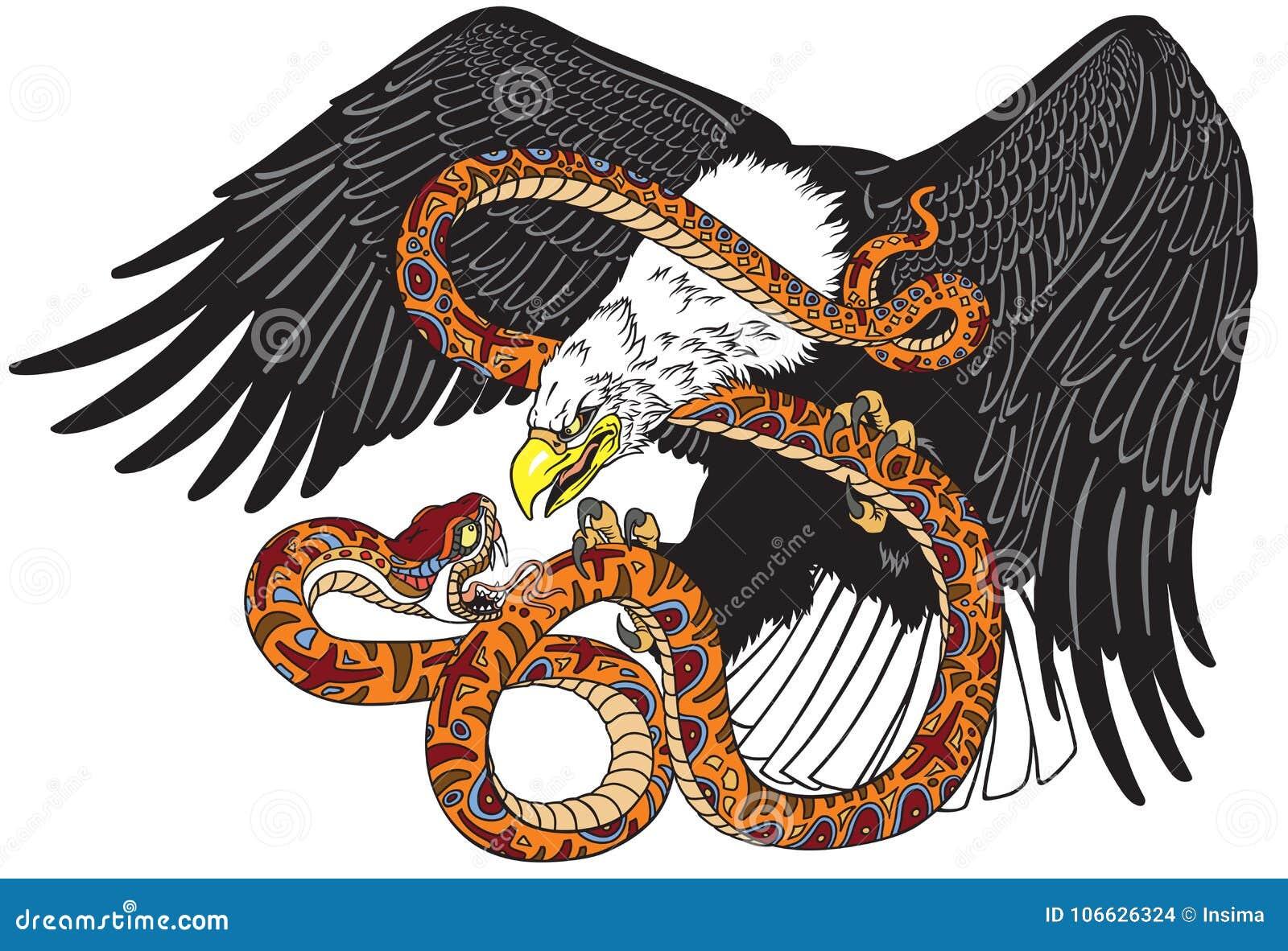 Орел воюя змея змейки