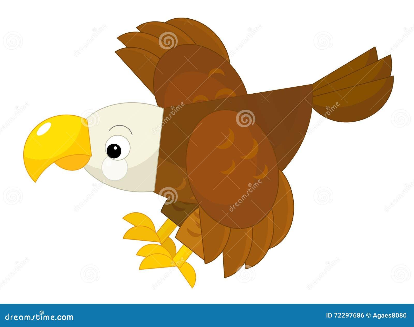 Download Орел шаржа - иллюстрация штока. иллюстрации насчитывающей художничества - 72297686