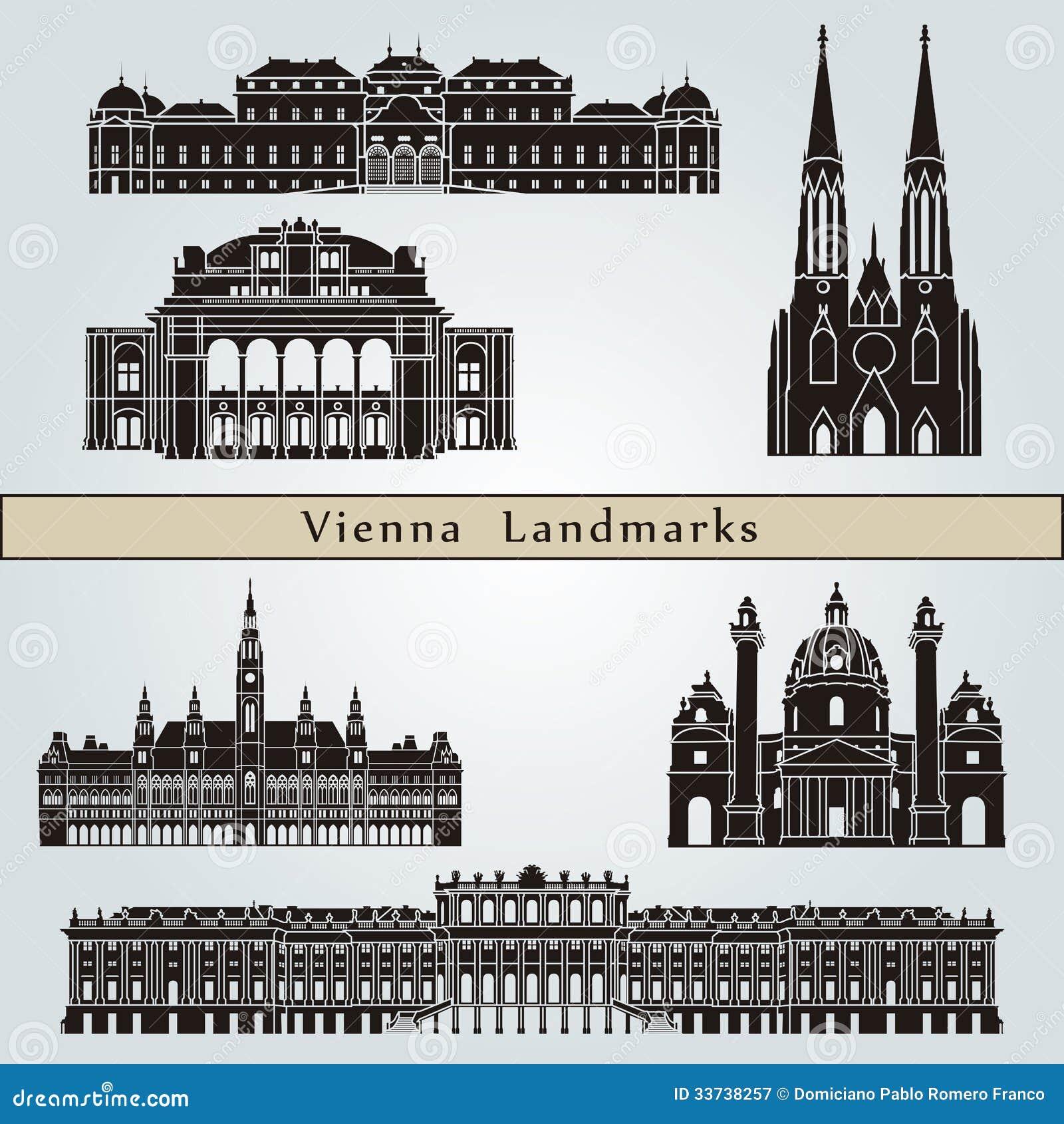 Наземные ориентиры и памятники вены