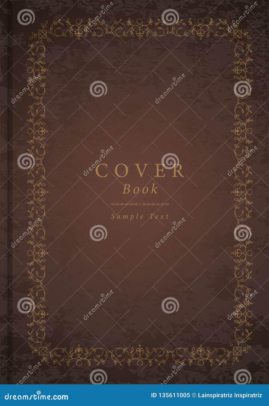 Орнаментальная старая рамка Античная книга крышки