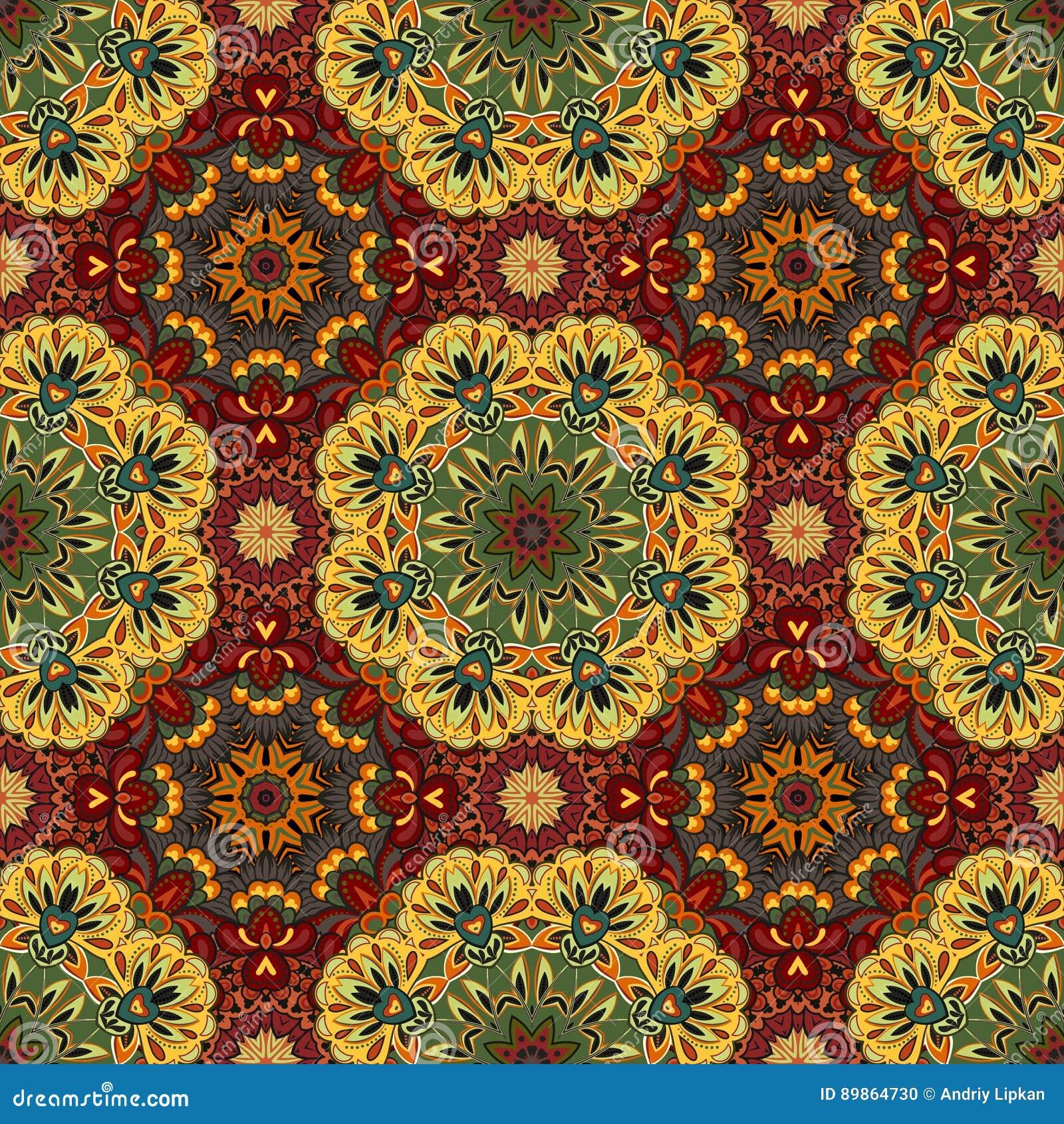 Орнаментальная круглая картина Марокко безшовная Орнамент Ориента традиционный мотив oriental плоско морокканская плитка