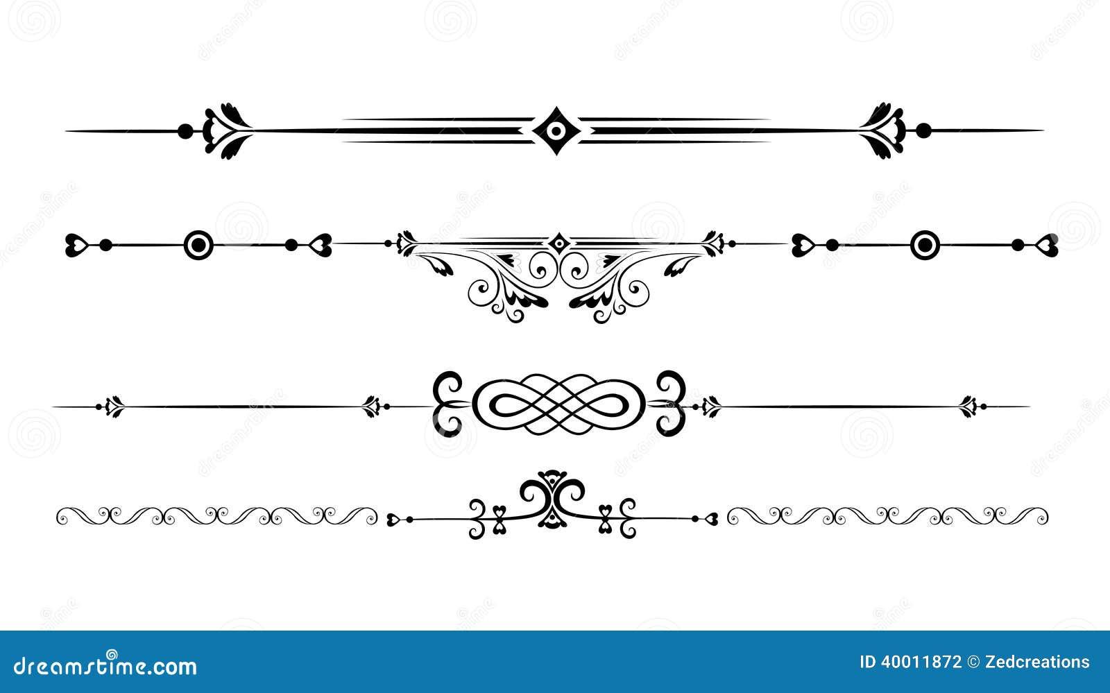 Орнаментальные линии правила