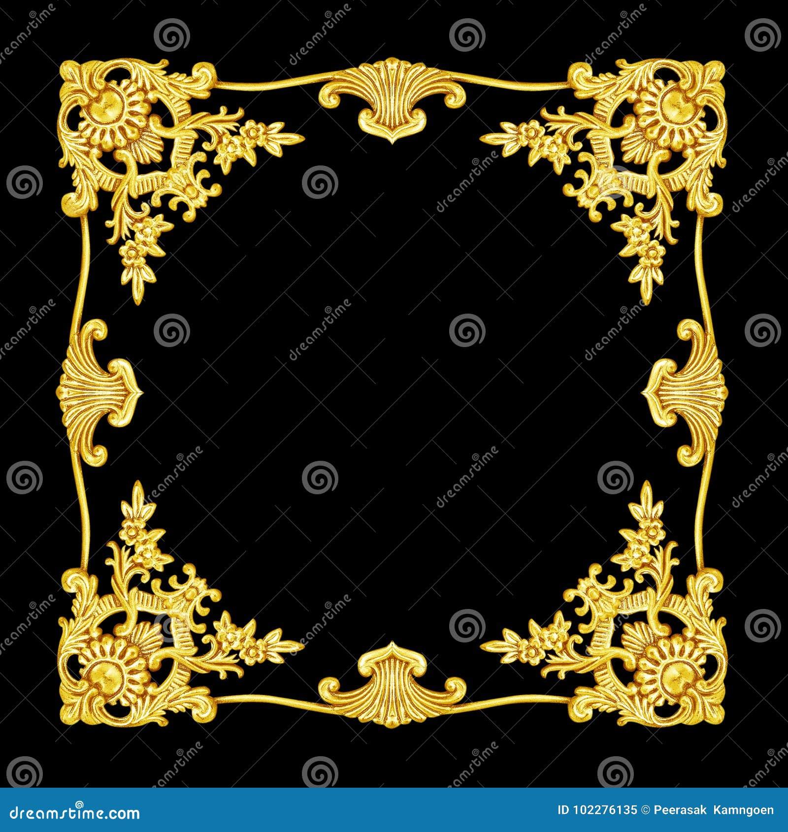 Орнаментируйте элементы, дизайны metat винтажного золота флористические