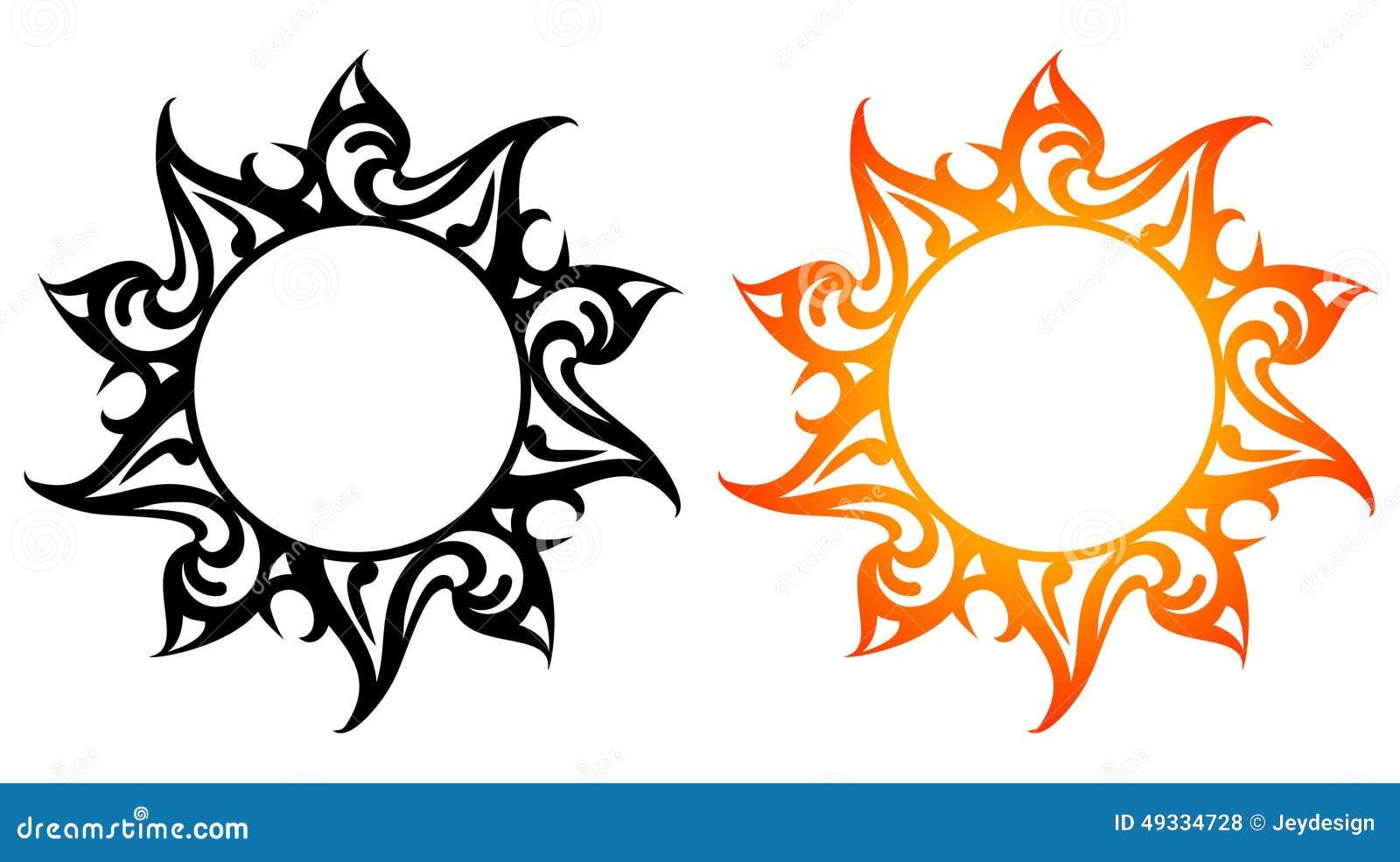 Узоры в виде солнца