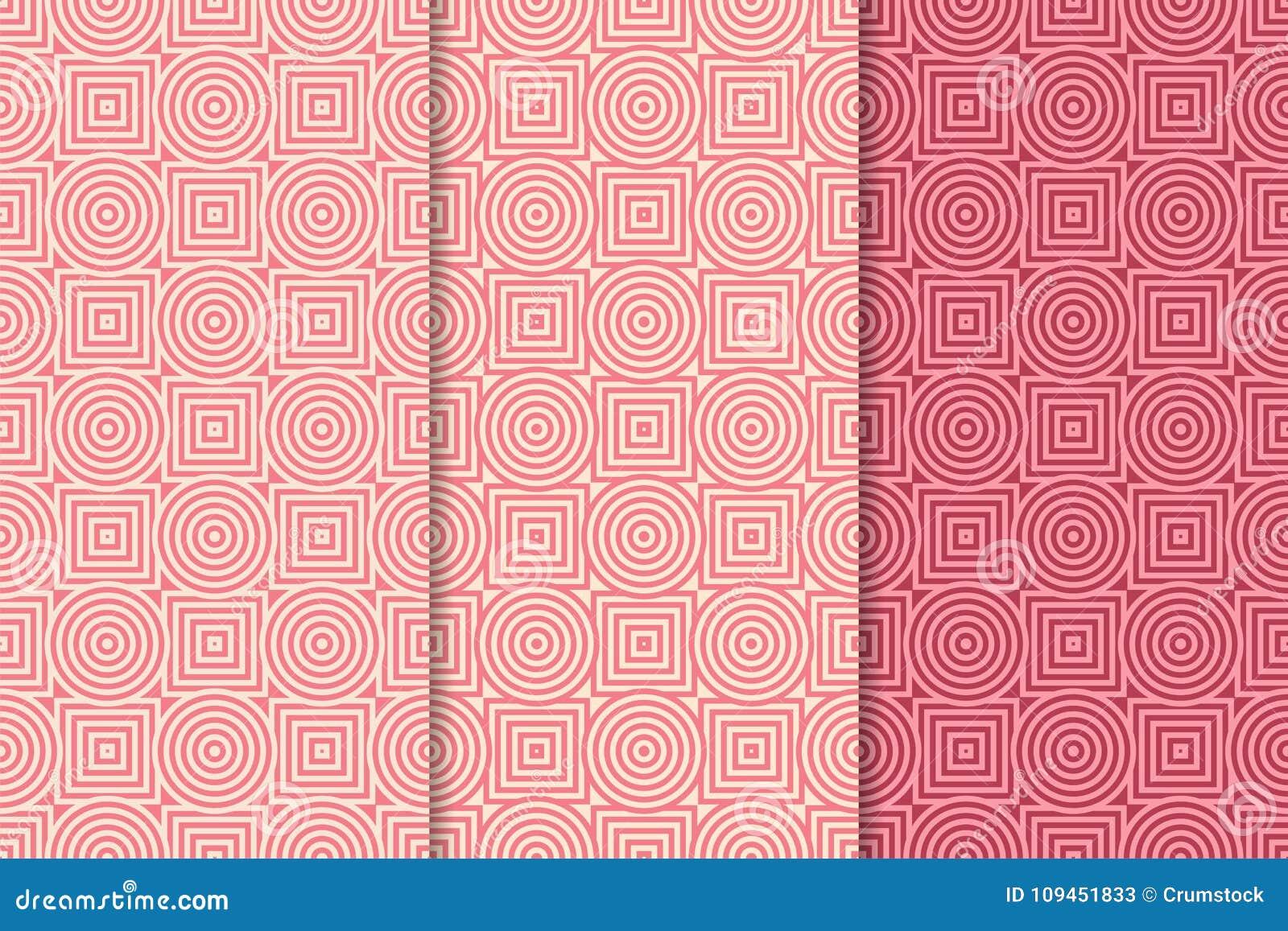 Орнаменты красного цвета вишни геометрические делает по образцу безшовный комплект