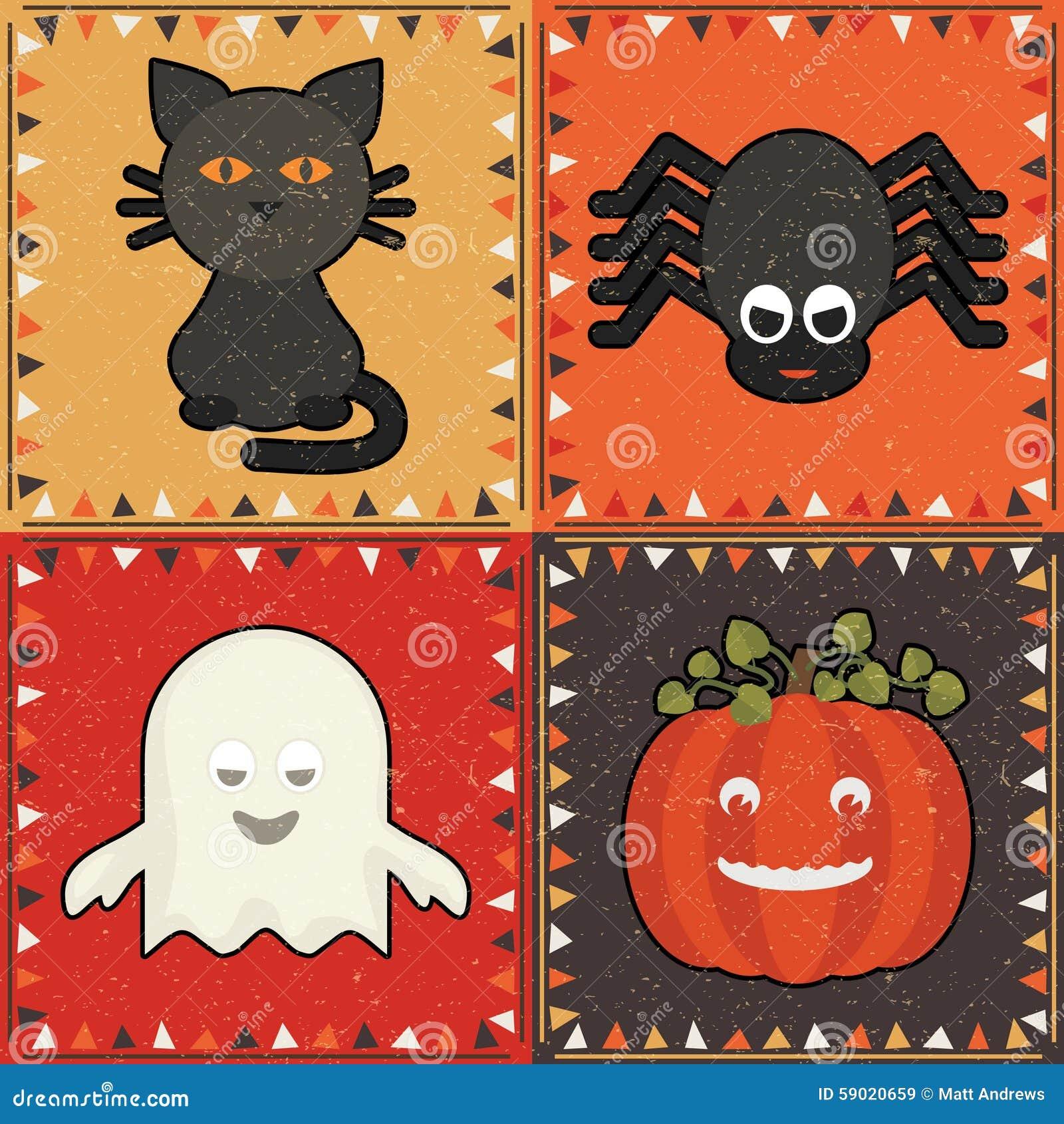 Орнаменты хеллоуина