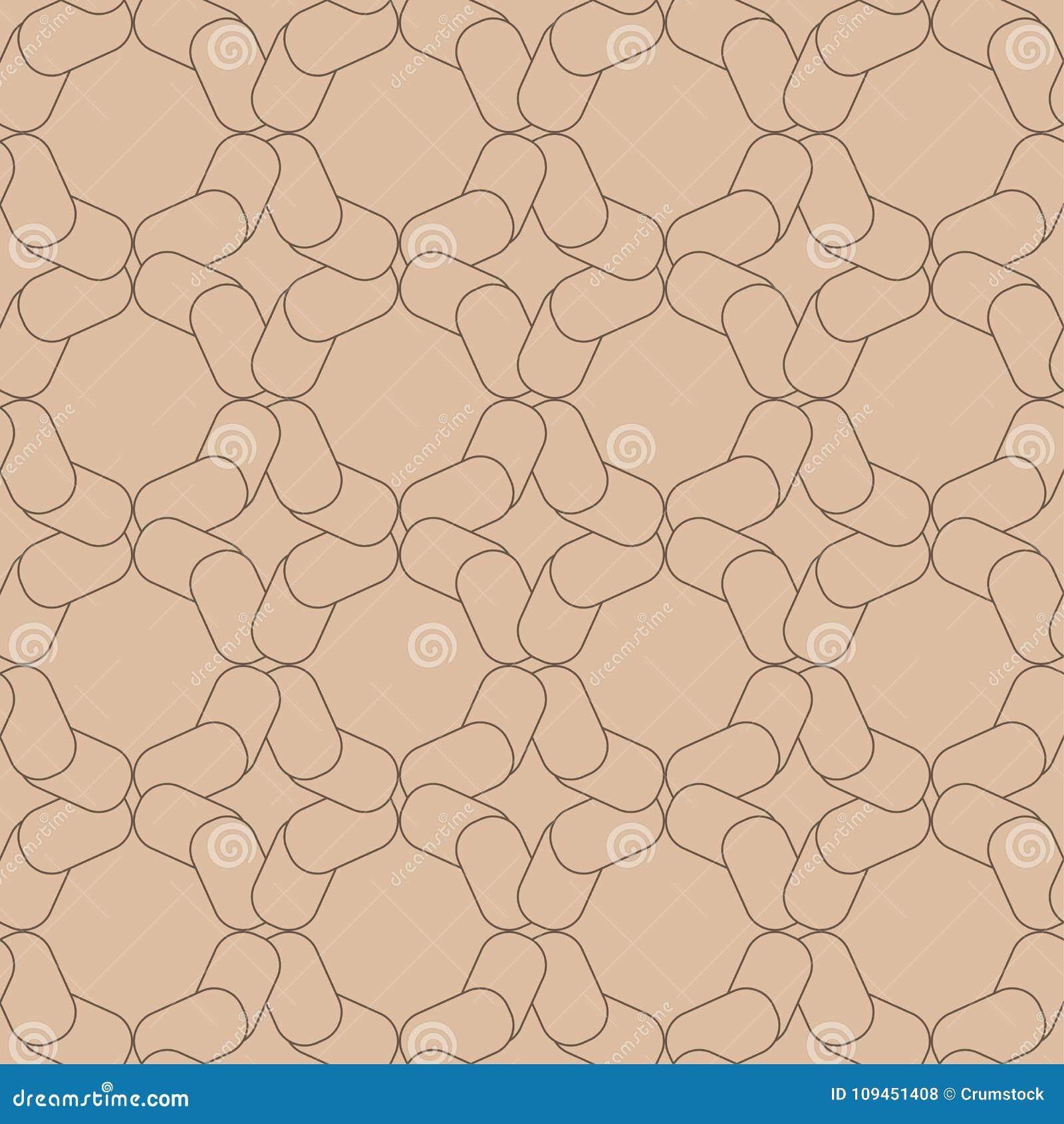 Орнамент Брайна геометрический картина безшовная