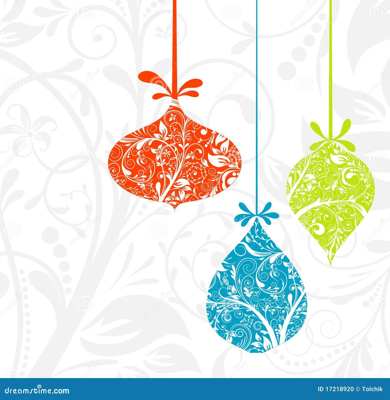 орнамент рождества карточки