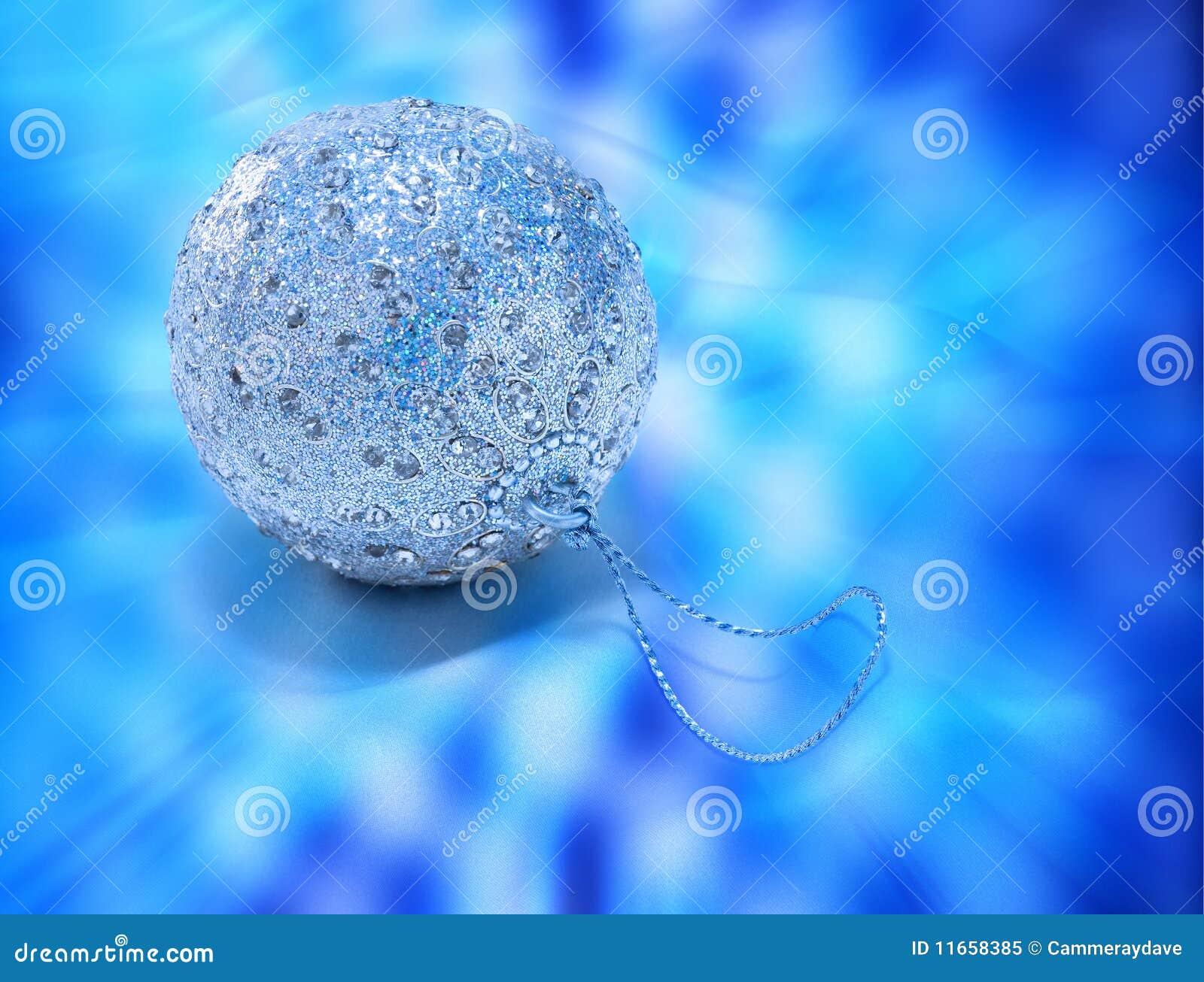 орнамент рождества bauble голубой