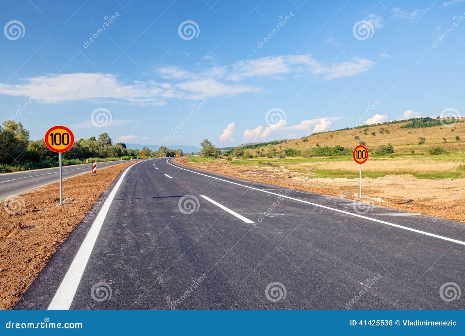 дорога асфальта новая